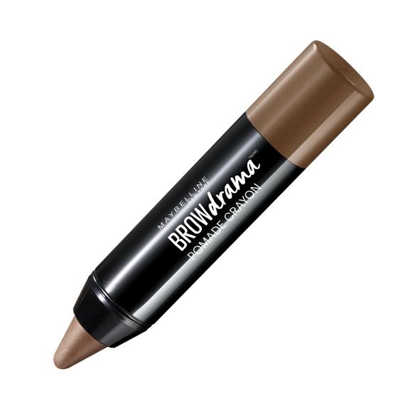 Maybelline New York Восковый карандаш-стик для бровей Brow Drama, Pomade, восковый карандаш-стик, оттенок 02, Коричневый, 1,1гB27184001-ый кремовый карандаш-стик для бровей в трех оттенках.