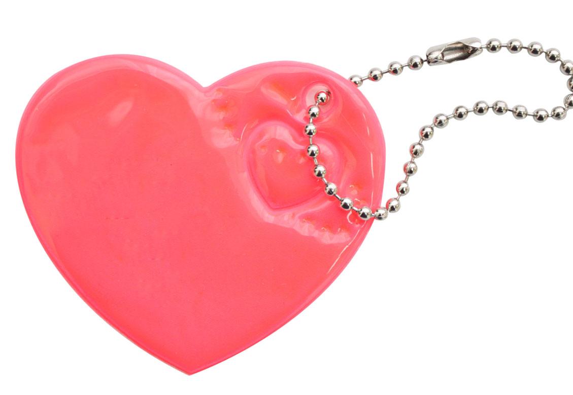 Украшение-подвеска Bestex Сердце, светоотражающее, цвет: розовый, 2 шт7714888_розовыйПодвеска светоотражающая Bestex Сердце выполнена из полиэстера и предназначена для безопасности на дорогах детей и взрослых. Увеличивает расстояние видимости пешеходов, велосипедистов, детских колясок в свете фар, в темное время суток. Рекомендуется крепить на рюкзаках, сумках, детских колясках, одежде, велосипеде. Светоотражающий элемент заметен при любых погодных условиях. В комплекте 2 подвески.