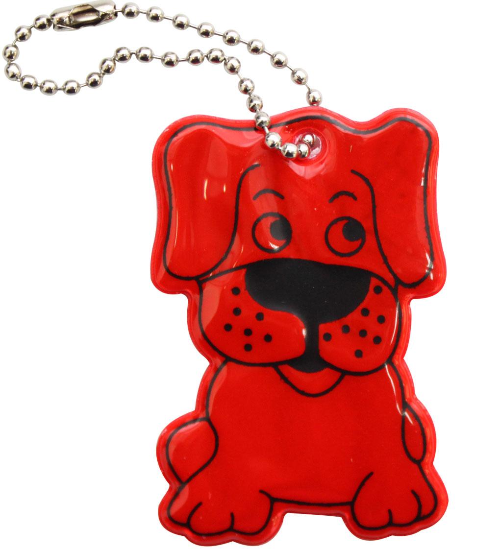 Декоративное подвесное украшение Bestex Собака, светоотражающее, цвет: красный , 2 шт.7714886_красный