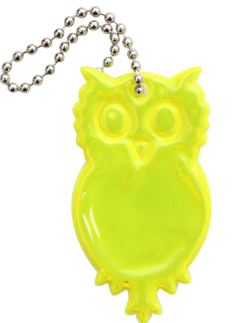 Декоративное подвесное украшение Bestex Сова, светоотражающее, цвет: желтый , 2 шт.7714890_желтый