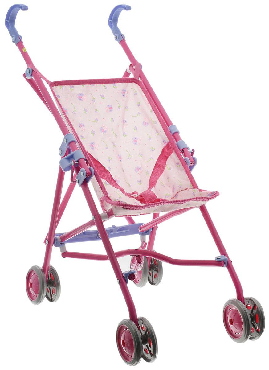 Simba Коляска для кукол New Born Baby розовый5525052_розовыйСкладная коляска для кукол Simba New Born Baby очень компактна, удобна в эксплуатации и комфортабельна. Рама коляски выполнена из прочного металла, ручки и колесики выполнены из пластика. Кукла фиксируется в коляске при помощи ремня, длина которого регулируется. Текстильное сиденье коляски легко снимается, что облегчает уход за коляской. Коляска для куклы удобна в применении как на улице, так и в помещении. Девочка непременно захочет взять эту коляску с собой на прогулку, чтобы покатать свою любимую куколку.