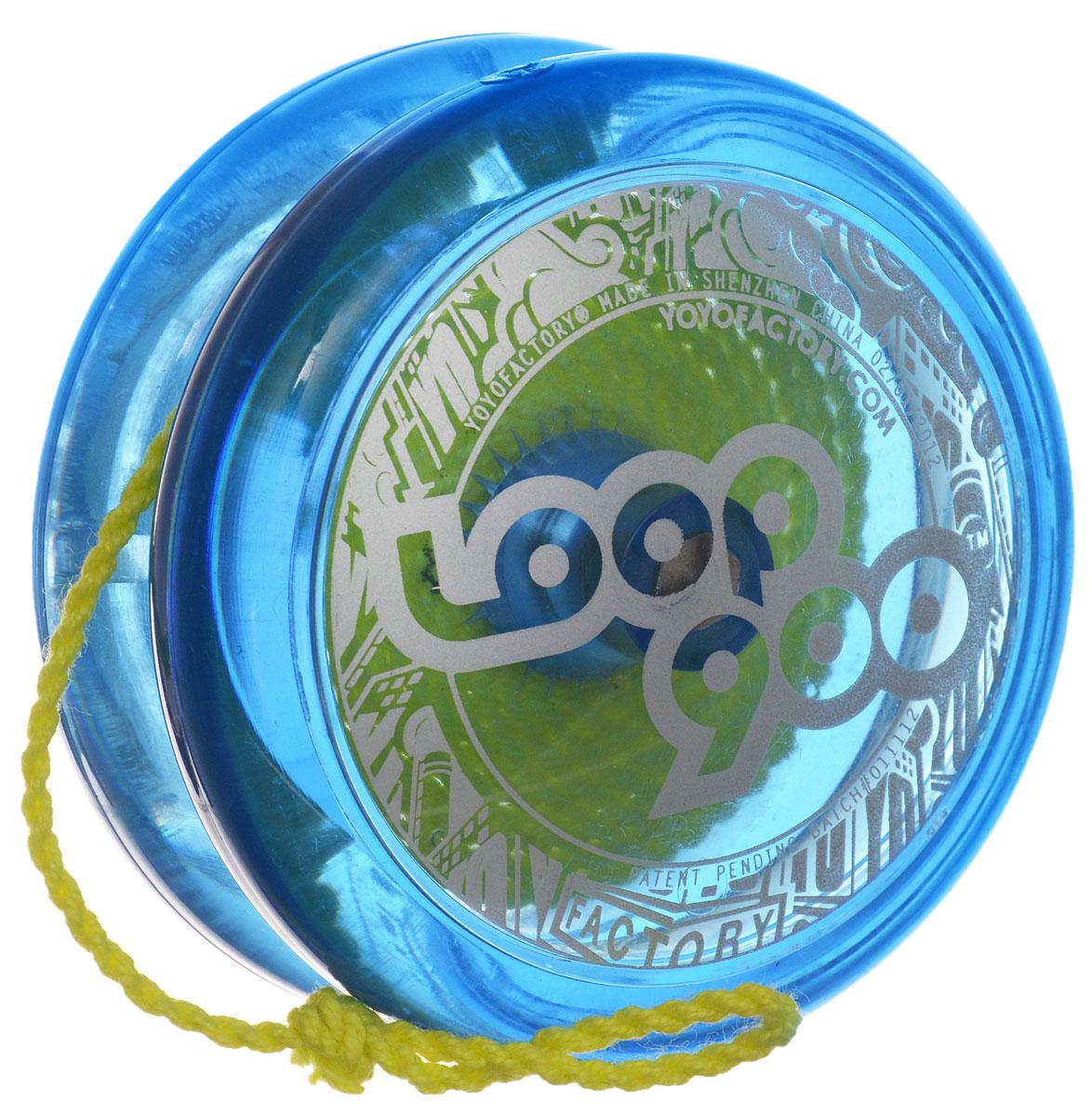 YoYoFactory Йо-йо Loop 900 цвет синийLoop 900_синийЙо-йо YoYoFactory Loop 900 - это узнаваемый H-профиль, идеальное покрытие и стабильность, неизменное качество исполнения. На веревке йо-йо сидит великолепно, а игра с ним - одно удовольствие! Йо-йо - это игрушка, состоящая из двух симметричных половинок соединенных осью, к которой прикреплена веревка. Современный йо-йо значительно отличается от тех, к которым многие привыкли. Сейчас йо-йо - это такая же часть молодежной культуры как скейт, ВМХ или сноуборд. Йо-йо популярно во многих странах мира, таких как Россия, США и Япония. Ежегодно во всем мире проходят различные чемпионаты по игре с йо-йо, в том числе и Чемпионат России, в котором собираются лучшие игроки со всей страны.