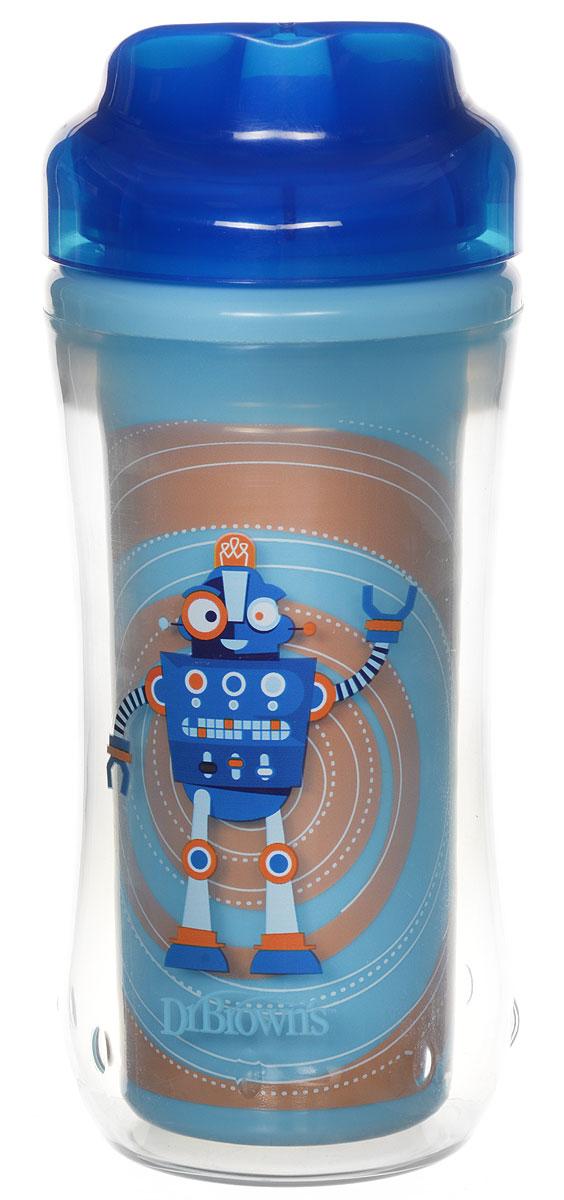 Чашка-термос 300 мл, без носика, 12+ месяцев - Синий Робот