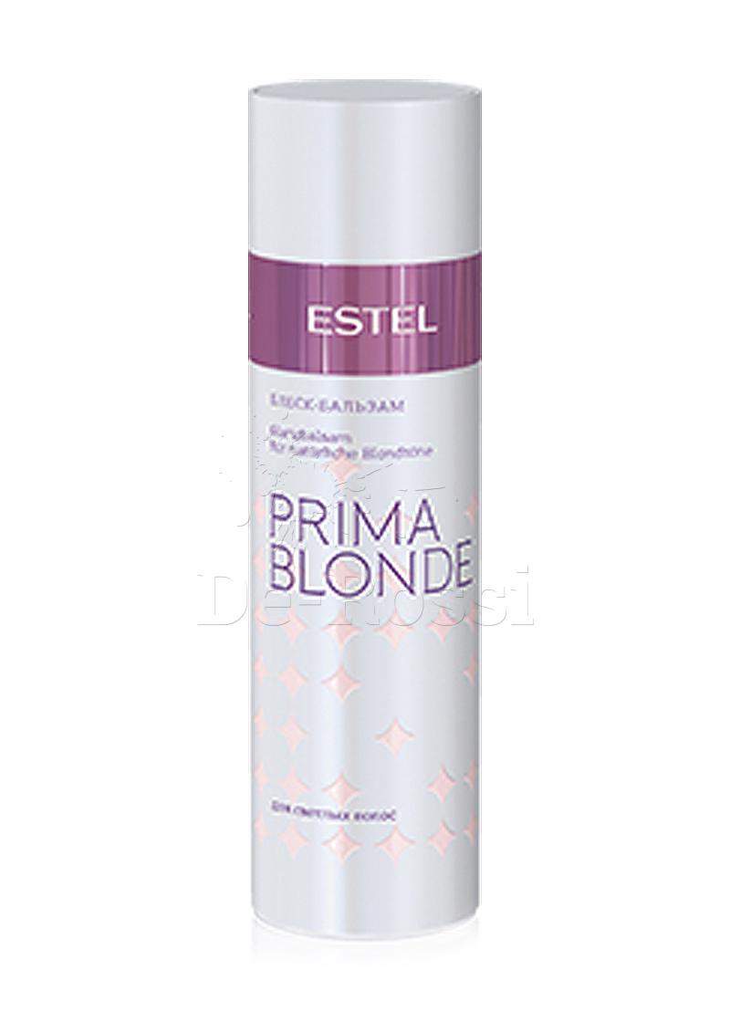 Estel Prima Blonde - Блеск-бальзам для светлых волос 200 млPB.4Тип волос: Светлые натуральные и окрашенные Активные вещества в составе продукта восстанавливают и укрепляют структуру светлых волос. Результат: гладкие, послушные и шелковистые волосы. После использования Блеск-бальзама расчесывание становится удовольствием. А блеск и мягкость волос усиливаются во много раз! Результат: Панктелоктон – насыщает блеском Натрий PCA – стабилизирует цвет, увлажняет волосы.