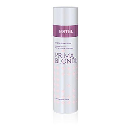 Estel Prima Blonde - Блеск-шампунь для светлых волос 250 млPB.3Тип волос: Светлые натуральные и окрашенные Блеск-шампунь мягко очищает волосы и подчеркивает красоту светлых оттенков. Волосы натуральные или окрашенные? Блеск-шампунь сглаживает различия: волосы оттенка блонд, независимо от того, были они окрашены или нет, наполняются здоровым солнечным сиянием! Система Nаturаl Peаrl с пантенолом и кератином заботится о волосах, способствуя восстановлению их структуры и наделяя мягкостью. Результат: Кератин – придает волосам здоровый и ухоженный вид, насыщает блеском Пантенол – восстанавливает и увлажняет волосы.