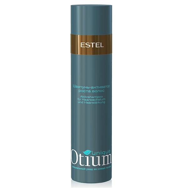 Estel Otium Unique Шампунь-активатор стимулирующий рост волос 250 млOT.91Estel Otium Unique Шампунь - активатор стимулирующий рост волос. Специальный шампунь с комплексом Unique Active, протеинами молока и лактозой обеспечивает активную терапию кожи головы, воздействует на волосяную луковицу, ускоряя процесс роста волос и увеличивая их плотность. Защищает волосы от выпадения, восстанавливает гидробаланс. Идеален в сочетании с Active - процедурой Otium Unique для роста и укрепления волос.
