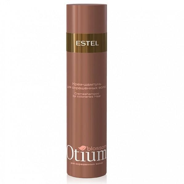 Estel Otium Blossom Крем-шампунь для окрашенных волос 250 млOT.83Estel Otium Blossom Крем - шампунь для окрашенных волос. Мягкая формула шампуня с инновационным комплексом Blossom Cаre Color и протеинами шёлка нежно очищает окрашенные волосы, подчёркивает богатство цвета. Наполняет волосы зеркальным блеском, придаёт им мягкость бархата. Идеален в сочетании с Блеск - бальзамом Otium Blossom для окрашенных волос. Для ежедневного применения.