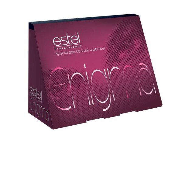 Estel Enigma Краска для бровей и ресниц Тон фиолетово-черный 20 мл + 20 млEN/7Ультрамягкая формула краски Estel Enigma для бровей и ресницобеспечивает превосходный стойкий результат окрашивания. Компоненты легко смешиваются и дозируются. Красящая смесь пластична, удобна для нанесения, содержит мерцающий пигмент. Краска проста и безопасна в применении,экономична в использовании. Удобный набор для окрашивания содержит все необходимо. В комплект краски входят: туба с крем-краской, 20 мл флакон с проявляющей эмульсией, 20 мл мисочка для краски, лопаточка для размешивания и нанесения, защитные листочки для век, инструкция по применению.