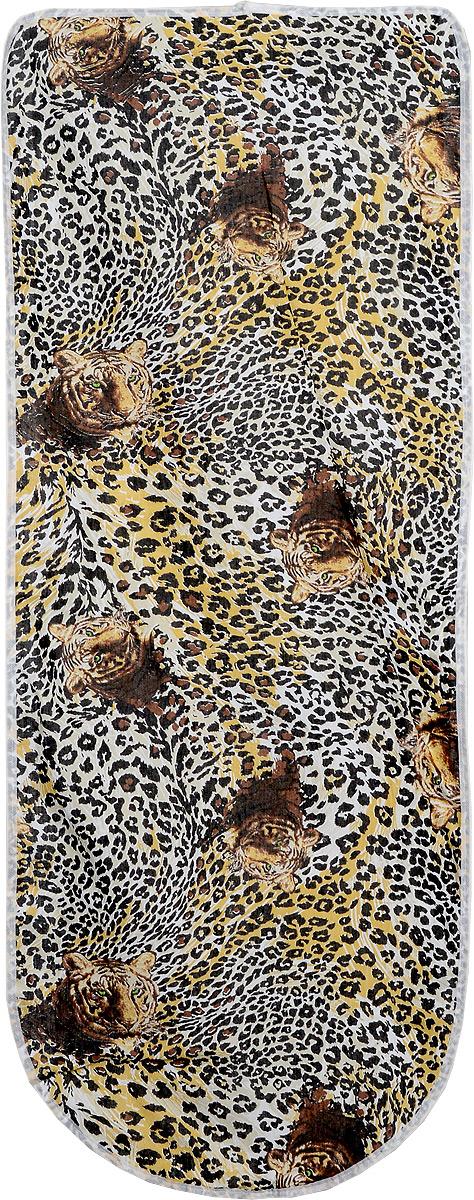 Чехол для гладильной доски Eva, цвет: леопард, 125 х 47 смЕ13_ леопардЧехол для гладильной доски Eva выполнен из хлопчатобумажной ткани, с поролоновой подкладкой. Чехол предназначен для защиты или замены изношенного покрытия гладильной доски. Благодаря удобной системе фиксации легко крепится. Этот качественный чехол обеспечит вам легкое глажение. Размер чехла: 125 х 47. Максимальный размер доски: 116 x 40 см.
