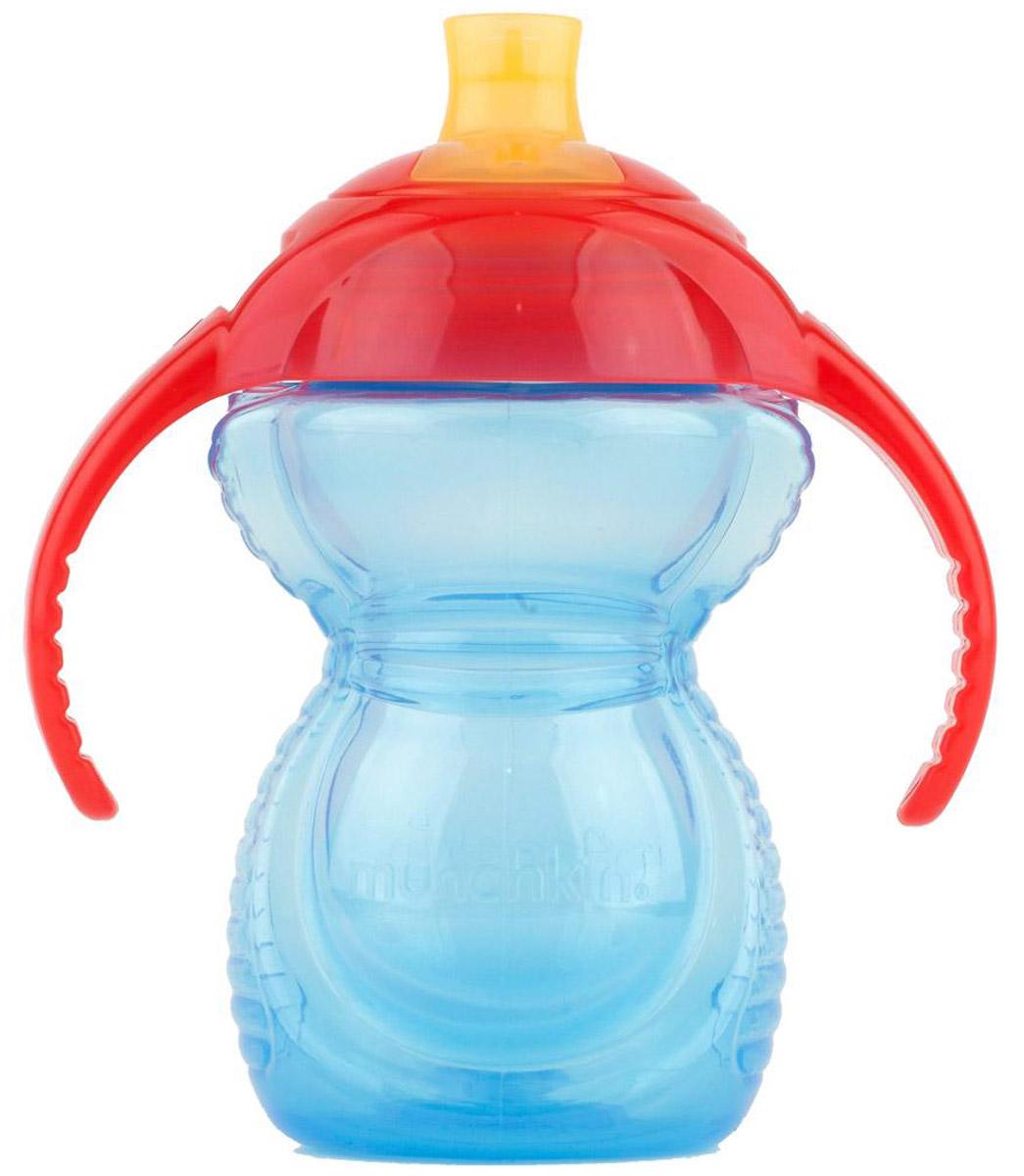 Munchkin Чашка-поильник Click Lock от 6 месяцев цвет голубой красный 237 мл11364_голубой/красныйЧашка-поильник Munchkin Click Lock выполнена из безопасного полупрозрачного материала. Жидкость из поильников не выливается и не протекает. Click Lock обеспечивает герметичное закрывание крышки. Поильник-чашка имеет силиконовый носик с отверстием. Гигиеничность обеспечивает плотный прозрачный колпачок. Благодаря эргономичному дизайну и нескользящим ручкам крохе будет удобно держать поильник. Широкое горлышко позволит легко наполнить и очистить внутреннюю часть поильника. Чашку-поильник Munchkin Click Lock удобно брать с собой на прогулку или в дорогу. Не содержит бисфенол-А. Можно мыть в посудомоечной машине на верхней полке.