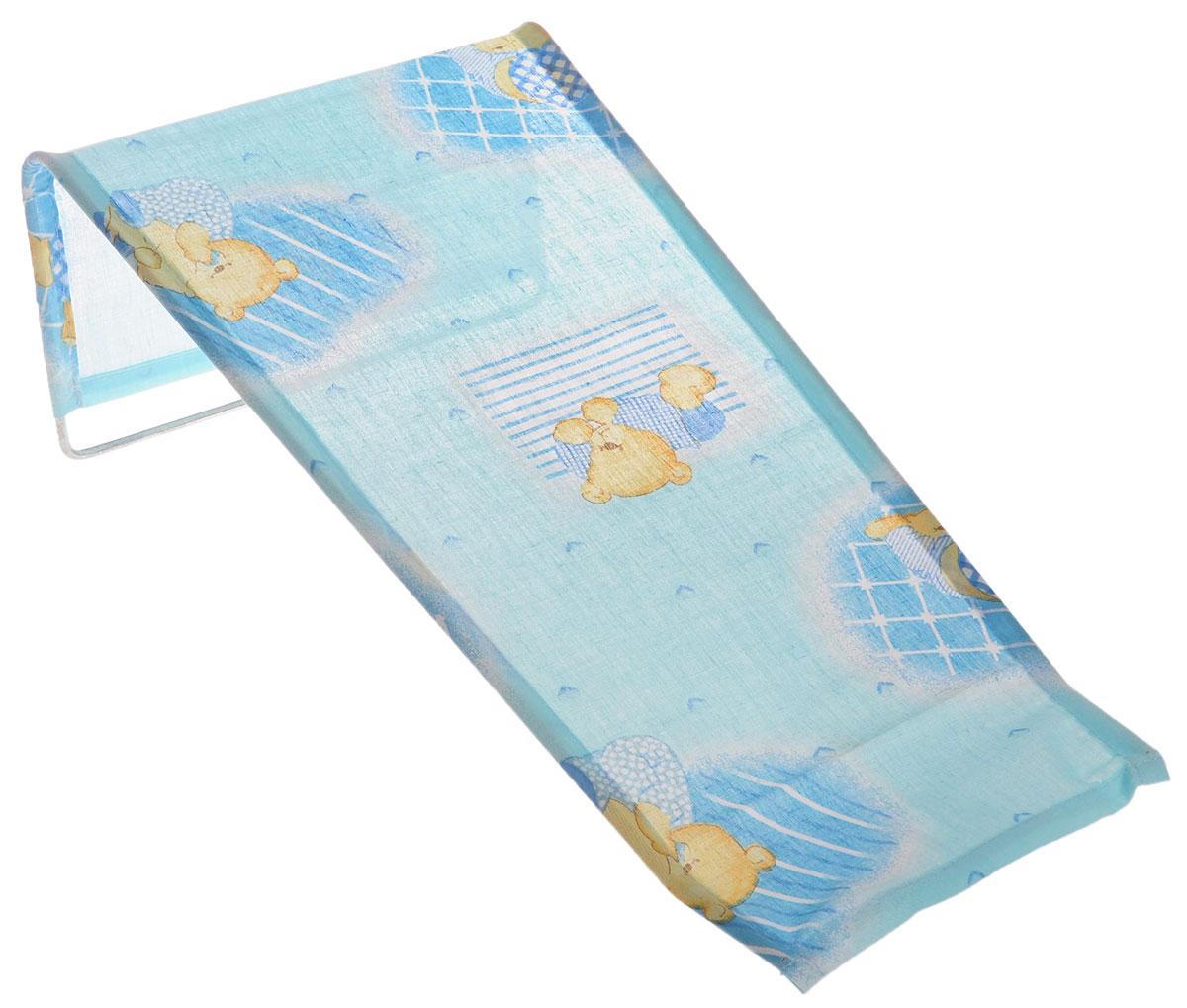 Фея Подставка для купания Мишка с подушкой цвет голубой1332-01_голубойПодставка для купания Фея Мишка с подушкой - это удобный способ мытья и прекрасная возможность побаловать вашего малыша. Эргономичный дизайн подставки разработан специально для комфорта и безопасности вашего ребенка. Основу подставки составляет металлический каркас, обтянутый тканью. Подарите своему малышу радость и комфорт во время купания! Подставка предназначена для купания детей в возрасте до 1 года. Фея - это качественные и надежные товары для малышей, которые может позволить себе каждая семья! Правила ухода за чехлом: после использования хорошо просушить. Запрещается использование моющих средств содержащих щелочь.
