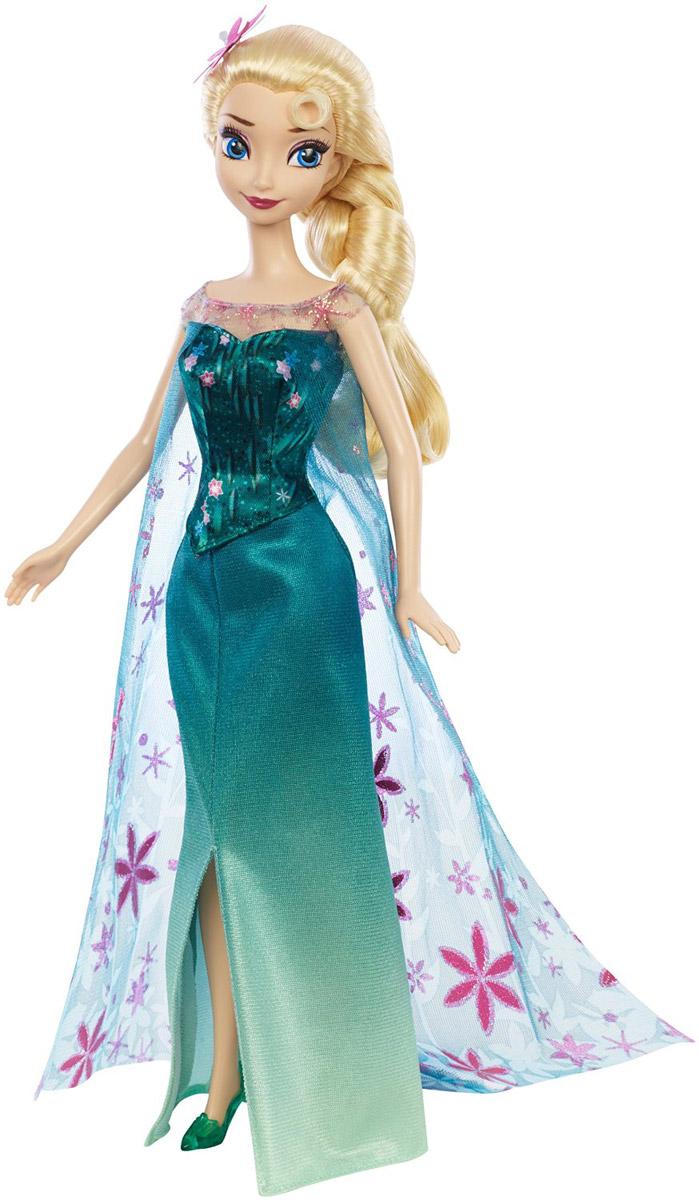 Disney Frozen Кукла Эльза Веселый день рожденияDGF54_DGF56С куклой Disney Frozen Эльза. Веселый день рождения вы сможете перенестись в мультфильм Холодное сердце! Кукла Эльза одета в изящное зеленое платье. На ногах - красивые туфли в тон платья. Светлые волосы Эльзы заплетены в тугую косу, однако вы сможете создать свою собственную прическу для этой очаровательной куклы, ведь ее волосы - прошивные. Ваша малышка с удовольствием будет играть с этой куклой, проигрывая сюжеты из любимого мультфильма или придумывая различные истории.