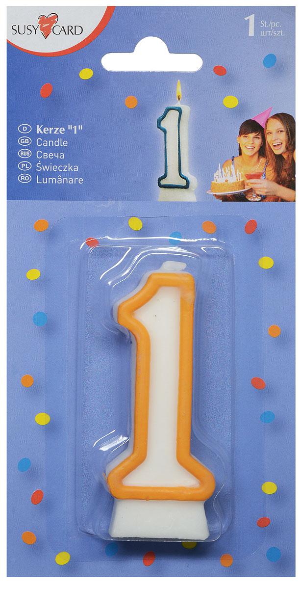 Susy Card Свеча-цифра для торта 1 год цвет желтый11142320_желтыйСвеча-цифра для торта Susy Card изготовлена из высококачественного парафина в виде цифры 1. Это отличное решение для декорирования торта к празднику. Ее можно комбинировать с другими цифрами. Изделие хорошо и долго горит. С этой свечой ваш праздник станет еще удивительнее и веселее.