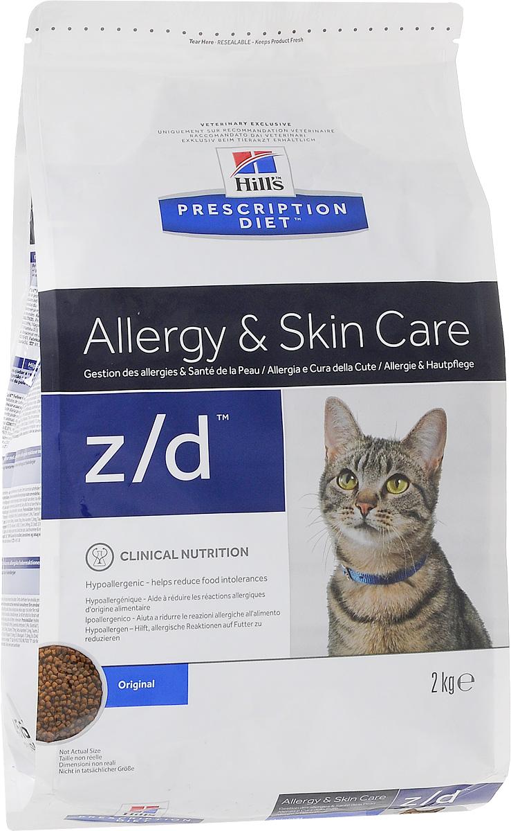 Корм сухой диетический Hills Z/D для кошек, для лечения острых пищевых аллергий, 2 кг4Сбалансированный лечебный корм для кошек Hills Z/D содержит особую формулу с пониженным содержанием аллергенов, благодаря чему является щадящей диетой для кошек с чувствительным пищеварением. Пищевая аллергия и непереносимость могут стать причиной таких серьезных проблем, как чувствительная или раздраженная кожа, проблемы с шерстью и ушами, расстройство пищеварения. Кошки с пищевой аллергией или непереносимостью, как правило, показывают негативную реакцию на протеины, содержащиеся в пище. Ключевые преимущества корма: - содержит легкоусвояемые протеины, снижающие риск аллергических реакций, - содержит один источник углеводов, благодаря чему обладает меньшим количеством аллергенов в своем составе. - легкоусвояемые углеводы и жиры снижают нагрузку на желудочно-кишечный тракт, - обогащен Омега-3 и Омега-6 жирными кислотами для здоровой кожи и блестящей шерсти. Рекомендации по кормлению: Монодиета не требует...