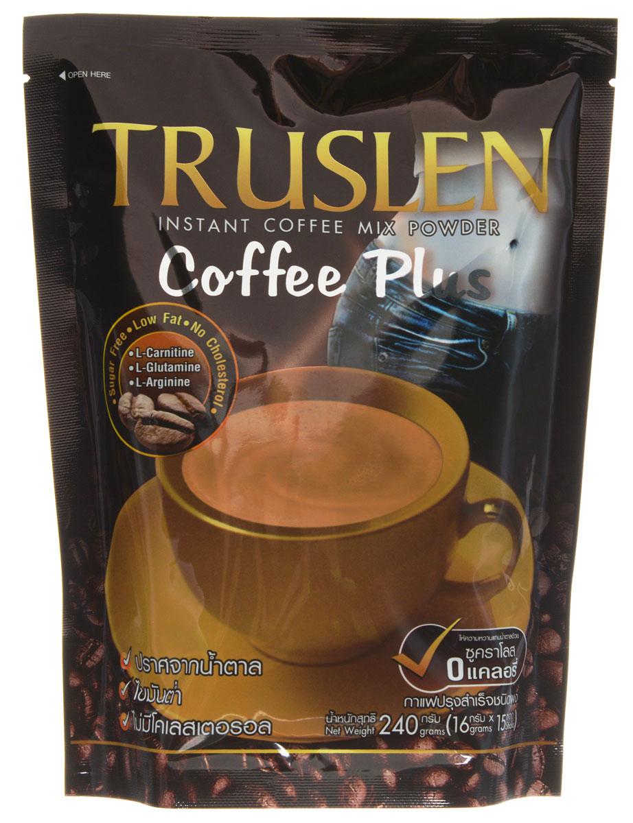 Truslen Cofee Plus кофейный напиток в пакетиках, 15 шт