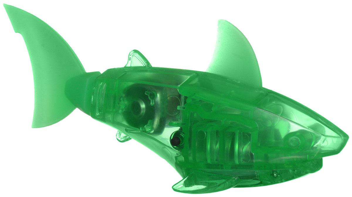 Hexbug Микро-робот AquaBot с аквариумом цвет зеленый460-2914Уникальный микро-робот рыбка Hexbug AquaBot изготовлен из безопасного пластика и выполнен в виде забавной рыбки. Теперь микро-роботы осваивают и водные глубины! Все что нужно - это прозрачная емкость и простая водопроводная вода. Бросьте AquaBot в жидкость, он почувствует комфортную для себя стихию и радостно зашевелит хвостом. Несколько режимов работы робота позволяют ему точно имитировать движение настоящей рыбки, неспешно плавая на поверхности или быстро погружаясь на глубину. Робот Aquabot плавает как настоящая рыба и непредсказуем в направлении движения. Если микро-робот замер, то достаточно просто всколыхнуть аквариум, и он снова поплывёт. Вне воды он автоматически выключается. В комплект входит пластиковый аквариум. Для работы игрушки необходимы 2 батарейки типа LR44 (в комплекте).
