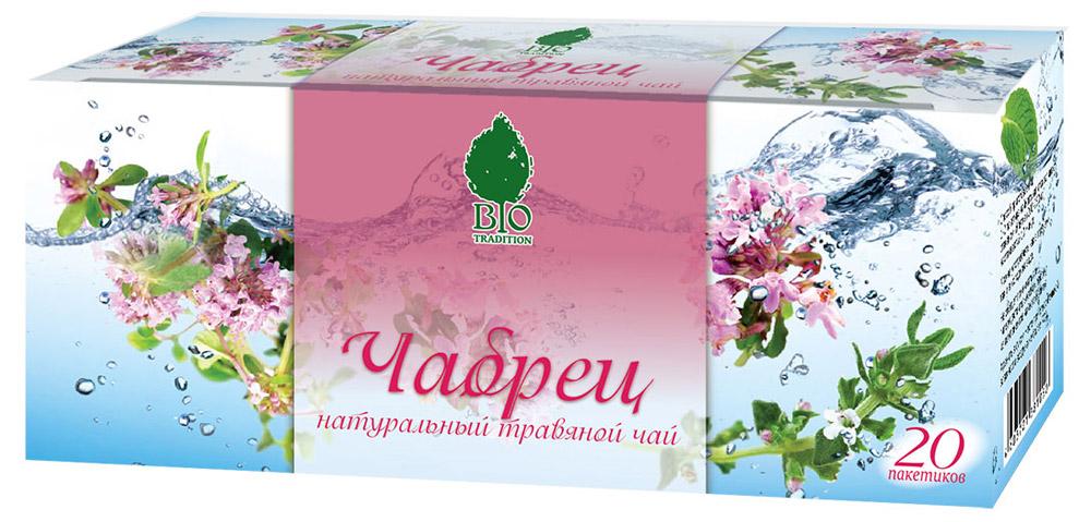BioTradition Чабрец травяной чай в пакетиках, 20 шт4603721381661Чабрец - помогает повысить жизнедеятельность организма, увеличить работоспособность, понижает усталость, обладает незабываемым вкусом и запахом.