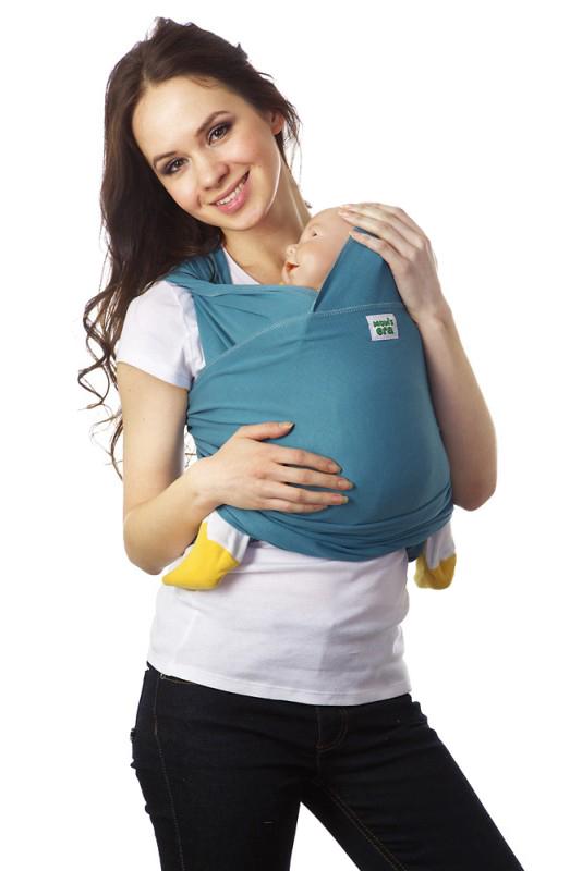 Слинг-шарф трикотажный Mums Era Адриатик, цвет: голубой7987