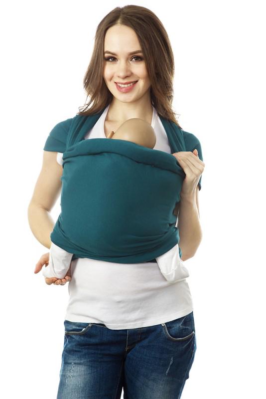 Слинг-шарф трикотажный Mums Era Корсар, цвет: темно-синий, зеленый34834