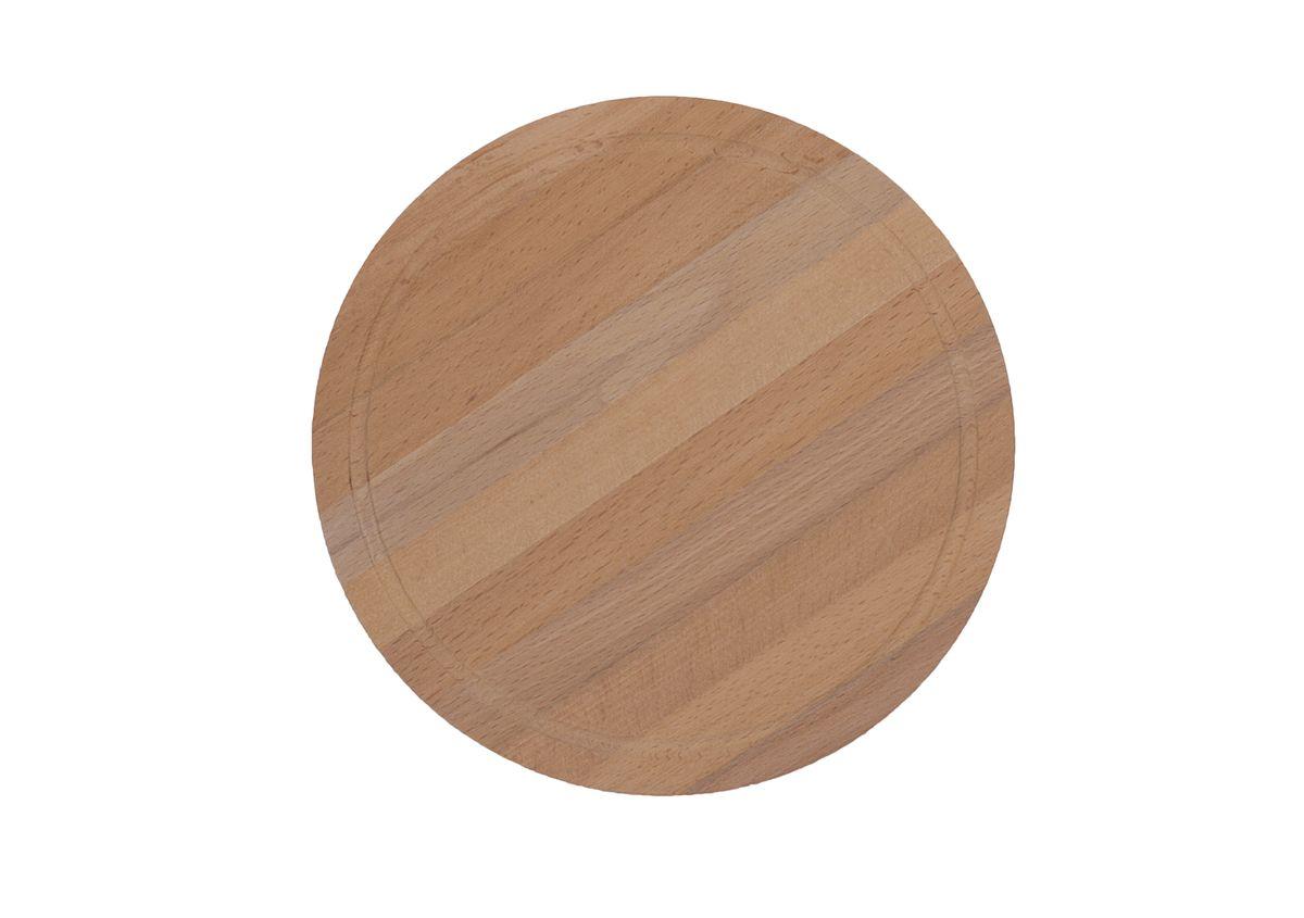 Доска разделочная Proffi, круглая, бук, 24 смPH6555Разделочная доска круглой формы может использоваться как для нарезки продуктов, так и для сервировки стола. Так же можно использовать в качестве подставки под горячее.