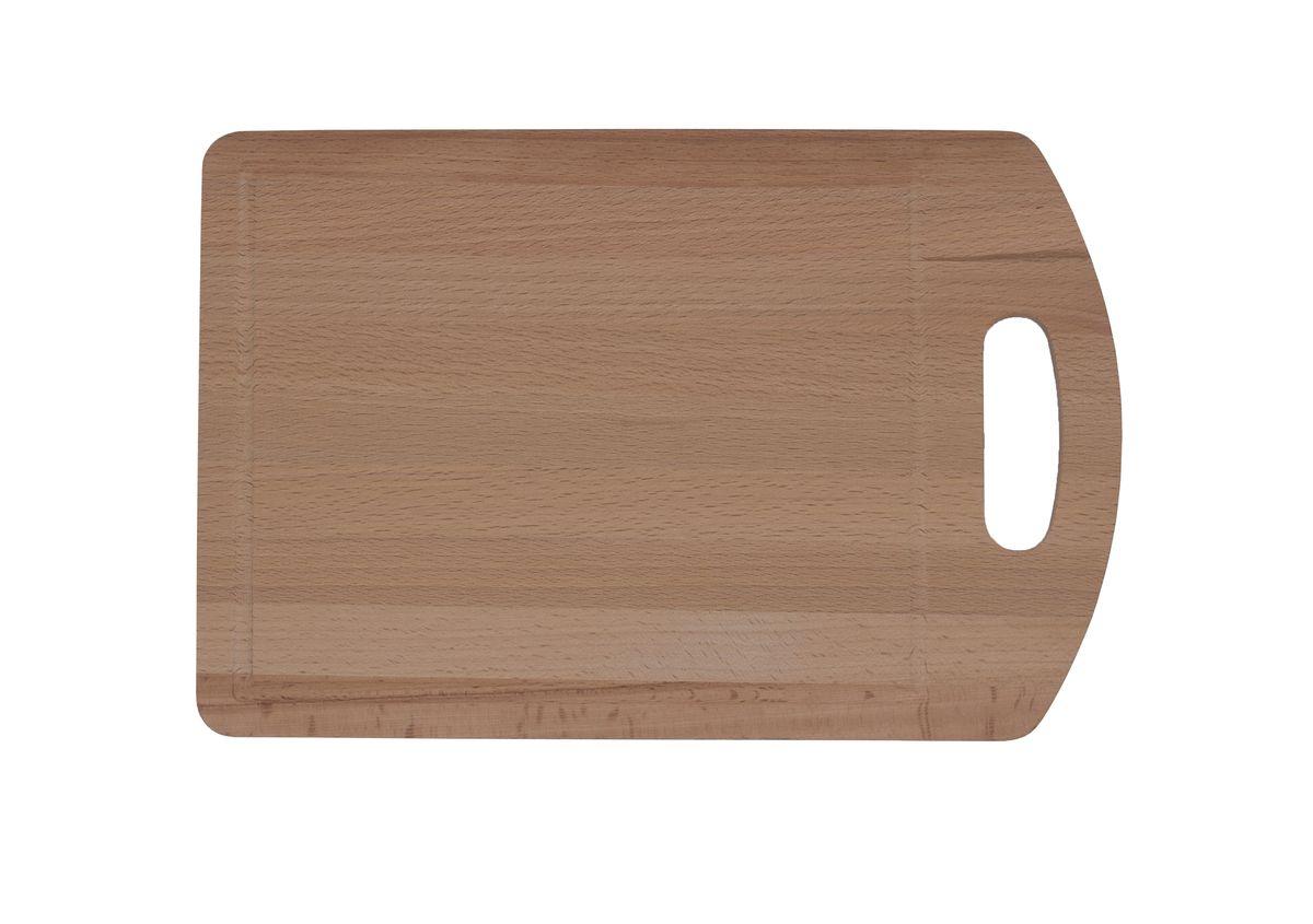 Доска разделочная Proffi, бук,30 x 20 смPH6556Разделочная доска круглой формы может использоваться как для нарезки продуктов, так и для сервировки стола. Так же можно использовать в качестве подставки под горячее.