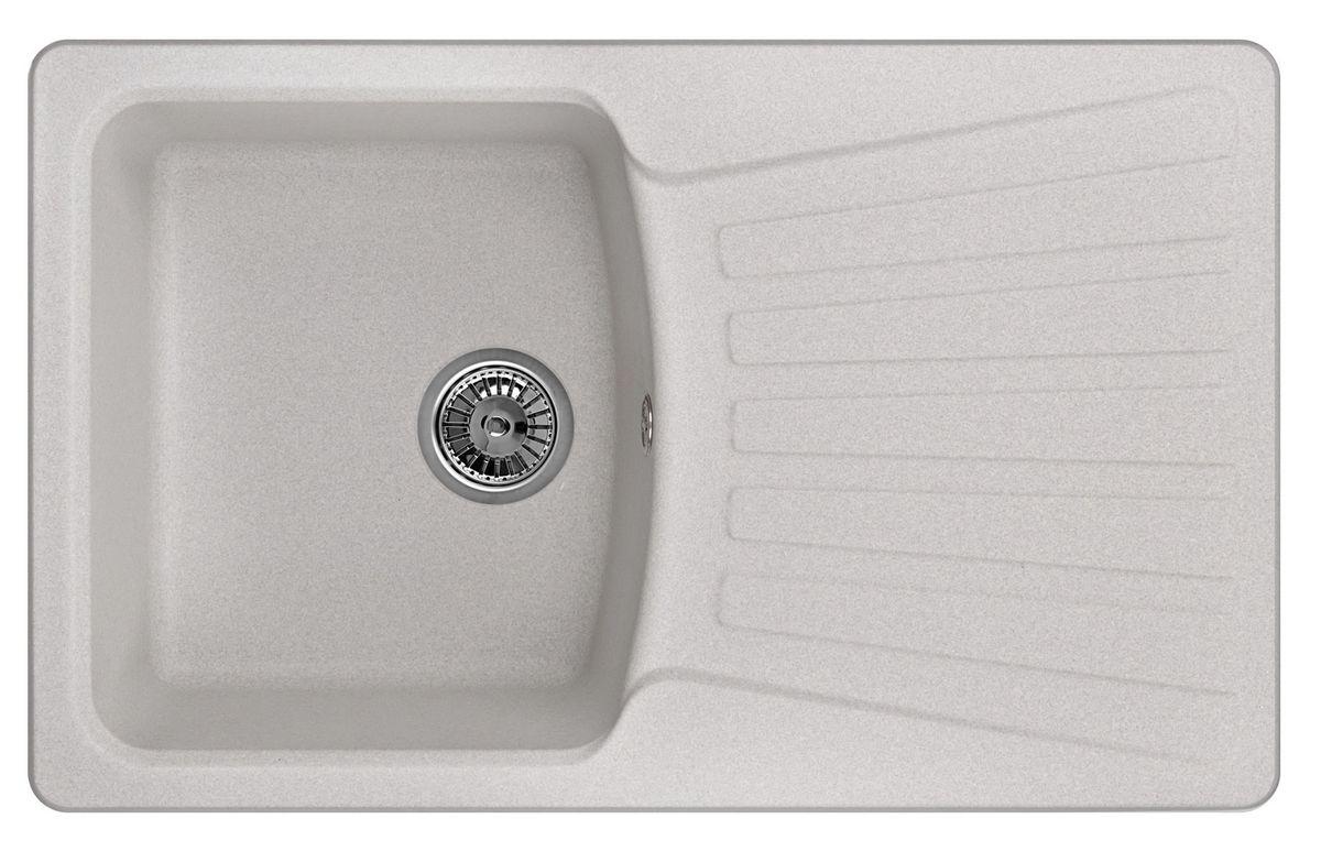 Мойка Weissgauff Classic 800 Eco Granit, цвет: серый, 80,0 х 19,5 х 49,0 см183407Гранитные мойки Weissgauff Eco Granit – классическая коллекция моек, изготовленных из специально подобранных композитных материалов , содержащих оптимальное сочетание 80% каменной массы высокого качества и 20% связующих материалов. Оригинальный и функциональный дизайн - технология изготовления позволяет создавать любые цвета и формы, оптимальные для современных кухонь. Мойки Weissgauff легко подобрать к интерьеру любой кухни, для разных цветов и форм столешниц Влагостойкость - отталкивание влаги – одна из примечательных особенностей моек из искусственного камня за счет связующих композитных материалов, которые продлевают их срок службы и способствуют сохранению первоначального вида Термостойкость - подвергая мойки воздействию высоких температур, например, различными горячими жидкостями, будьте уверенны, что мойки Weissgauff – эталон стойкости и качества, так как они устойчивы к перепаду температур. Специальный состав моек Weisgauff избавляет от проблемы...
