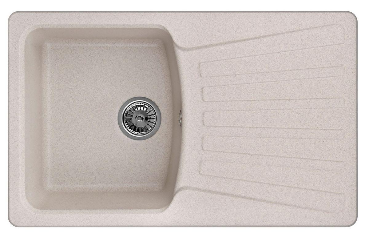 Мойка Weissgauff Classic 800 Eco Granit, цвет: серый беж, 80,0 х 19,5 х 49,0 см183410Гранитные мойки Weissgauff Eco Granit – классическая коллекция моек, изготовленных из специально подобранных композитных материалов , содержащих оптимальное сочетание 80% каменной массы высокого качества и 20% связующих материалов. Оригинальный и функциональный дизайн - технология изготовления позволяет создавать любые цвета и формы, оптимальные для современных кухонь. Мойки Weissgauff легко подобрать к интерьеру любой кухни, для разных цветов и форм столешниц Влагостойкость - отталкивание влаги – одна из примечательных особенностей моек из искусственного камня за счет связующих композитных материалов, которые продлевают их срок службы и способствуют сохранению первоначального вида Термостойкость - подвергая мойки воздействию высоких температур, например, различными горячими жидкостями, будьте уверенны, что мойки Weissgauff – эталон стойкости и качества, так как они устойчивы к перепаду температур. Специальный состав моек Weisgauff избавляет от проблемы...