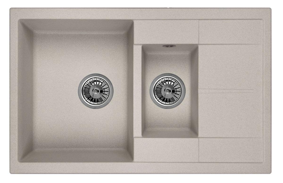 Мойка Weissgauff Quadro 775K Eco Granit, цвет: серый, 78,0 х 18,5 х 50,0 см183358Гранитные мойки Weissgauff Eco Granit – классическая коллекция моек, изготовленных из специально подобранных композитных материалов , содержащих оптимальное сочетание 80% каменной массы высокого качества и 20% связующих материалов. Оригинальный и функциональный дизайн - технология изготовления позволяет создавать любые цвета и формы, оптимальные для современных кухонь. Мойки Weissgauff легко подобрать к интерьеру любой кухни, для разных цветов и форм столешниц Влагостойкость - отталкивание влаги – одна из примечательных особенностей моек из искусственного камня за счет связующих композитных материалов, которые продлевают их срок службы и способствуют сохранению первоначального вида Термостойкость - подвергая мойки воздействию высоких температур, например, различными горячими жидкостями, будьте уверенны, что мойки Weissgauff – эталон стойкости и качества, так как они устойчивы к перепаду температур. Специальный состав моек Weisgauff избавляет от проблемы...