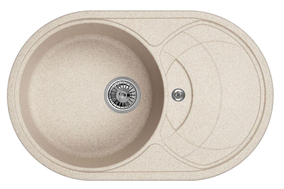 Мойка Weissgauff Ascot 780 Eco Granit, цвет: песочный, 78,0 х 20,5 х 50,0 см260795Гранитные мойки Weissgauff Eco Granit – классическая коллекция моек, изготовленных из специально подобранных композитных материалов , содержащих оптимальное сочетание 80% каменной массы высокого качества и 20% связующих материалов. Оригинальный и функциональный дизайн - технология изготовления позволяет создавать любые цвета и формы, оптимальные для современных кухонь. Мойки Weissgauff легко подобрать к интерьеру любой кухни, для разных цветов и форм столешниц Влагостойкость - отталкивание влаги – одна из примечательных особенностей моек из искусственного камня за счет связующих композитных материалов, которые продлевают их срок службы и способствуют сохранению первоначального вида Термостойкость - подвергая мойки воздействию высоких температур, например, различными горячими жидкостями, будьте уверенны, что мойки Weissgauff – эталон стойкости и качества, так как они устойчивы к перепаду температур. Специальный состав моек Weisgauff избавляет от проблемы...