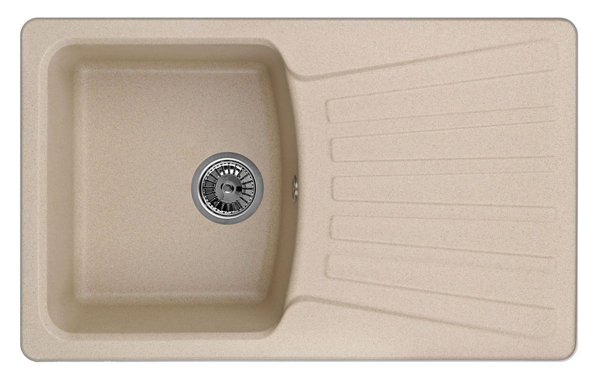 Мойка Weissgauff Classic 800 Eco Granit, цвет: бежевый, 80,0 х 19,5 х 49,0 см260812Гранитные мойки Weissgauff Eco Granit – классическая коллекция моек, изготовленных из специально подобранных композитных материалов , содержащих оптимальное сочетание 80% каменной массы высокого качества и 20% связующих материалов. Оригинальный и функциональный дизайн - технология изготовления позволяет создавать любые цвета и формы, оптимальные для современных кухонь. Мойки Weissgauff легко подобрать к интерьеру любой кухни, для разных цветов и форм столешниц Влагостойкость - отталкивание влаги – одна из примечательных особенностей моек из искусственного камня за счет связующих композитных материалов, которые продлевают их срок службы и способствуют сохранению первоначального вида Термостойкость - подвергая мойки воздействию высоких температур, например, различными горячими жидкостями, будьте уверенны, что мойки Weissgauff – эталон стойкости и качества, так как они устойчивы к перепаду температур. Специальный состав моек Weisgauff избавляет от проблемы...