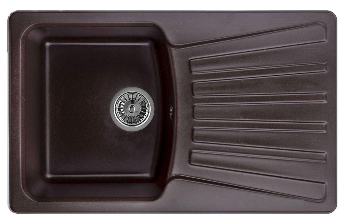 "Мойка Weissgauff ""Classic 800 Eco Granit"", цвет: шоколад, 80,0 х 19,5 х 49,0 см 260811"