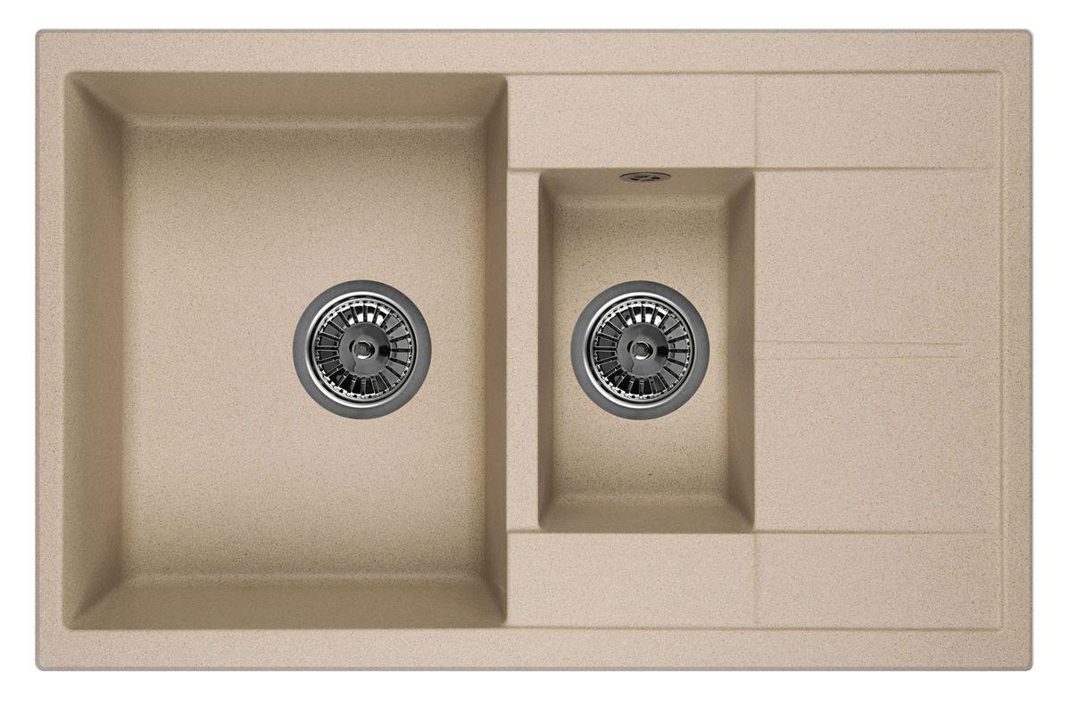 Мойка Weissgauff Quadro 775K Eco Granit, цвет: бежевый, 78,0 х 18,5 х 50,0 см260824Гранитные мойки Weissgauff Eco Granit – классическая коллекция моек, изготовленных из специально подобранных композитных материалов , содержащих оптимальное сочетание 80% каменной массы высокого качества и 20% связующих материалов. Оригинальный и функциональный дизайн - технология изготовления позволяет создавать любые цвета и формы, оптимальные для современных кухонь. Мойки Weissgauff легко подобрать к интерьеру любой кухни, для разных цветов и форм столешниц Влагостойкость - отталкивание влаги – одна из примечательных особенностей моек из искусственного камня за счет связующих композитных материалов, которые продлевают их срок службы и способствуют сохранению первоначального вида Термостойкость - подвергая мойки воздействию высоких температур, например, различными горячими жидкостями, будьте уверенны, что мойки Weissgauff – эталон стойкости и качества, так как они устойчивы к перепаду температур. Специальный состав моек Weisgauff избавляет от проблемы...