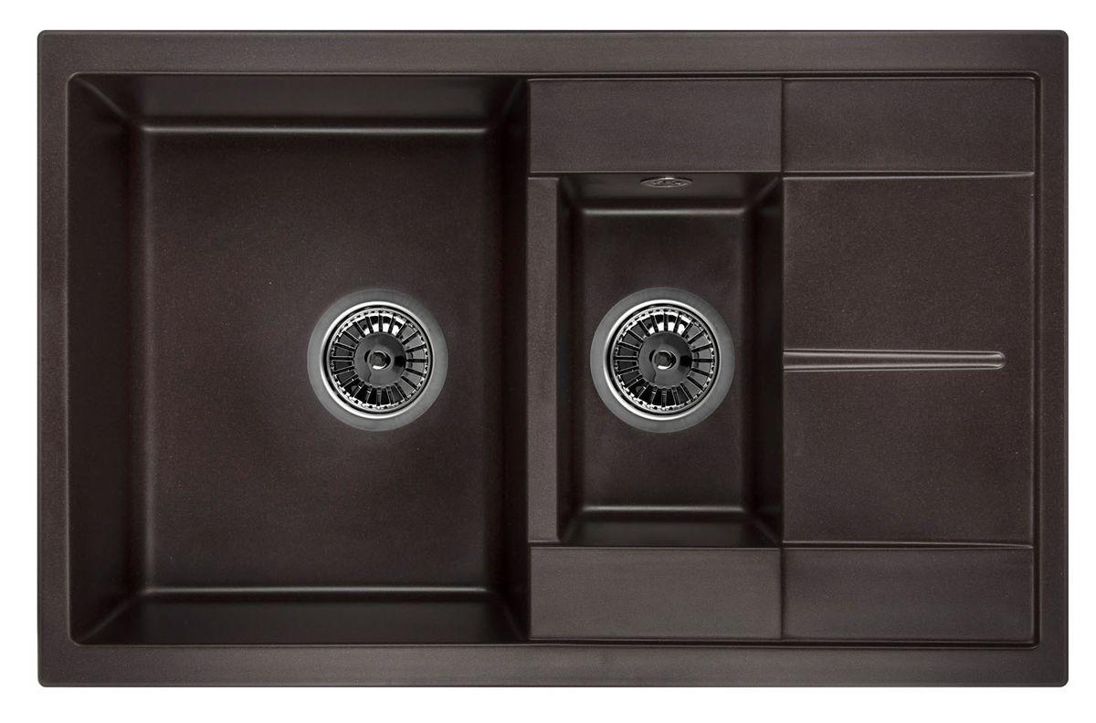 Мойка Weissgauff Quadro 775K Eco Granit, цвет: шоколад, 78,0 х 18,5 х 50,0 см260823Гранитные мойки Weissgauff Eco Granit – классическая коллекция моек, изготовленных из специально подобранных композитных материалов , содержащих оптимальное сочетание 80% каменной массы высокого качества и 20% связующих материалов. Оригинальный и функциональный дизайн - технология изготовления позволяет создавать любые цвета и формы, оптимальные для современных кухонь. Мойки Weissgauff легко подобрать к интерьеру любой кухни, для разных цветов и форм столешниц Влагостойкость - отталкивание влаги – одна из примечательных особенностей моек из искусственного камня за счет связующих композитных материалов, которые продлевают их срок службы и способствуют сохранению первоначального вида Термостойкость - подвергая мойки воздействию высоких температур, например, различными горячими жидкостями, будьте уверенны, что мойки Weissgauff – эталон стойкости и качества, так как они устойчивы к перепаду температур. Специальный состав моек Weisgauff избавляет от проблемы...