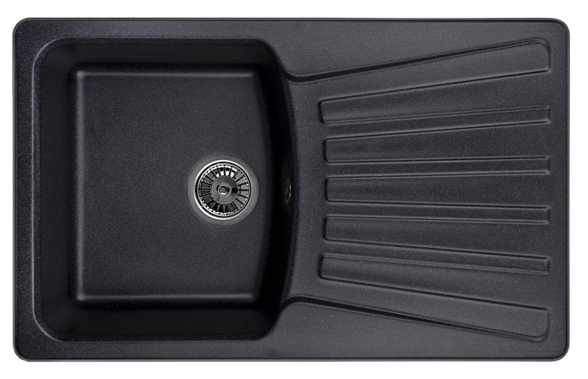 Мойка Weissgauff Classic 800 Eco Granit, цвет: черный, 80,0 х 19,5 х 49,0 см267299Гранитные мойки Weissgauff Eco Granit – классическая коллекция моек, изготовленных из специально подобранных композитных материалов , содержащих оптимальное сочетание 80% каменной массы высокого качества и 20% связующих материалов. Оригинальный и функциональный дизайн - технология изготовления позволяет создавать любые цвета и формы, оптимальные для современных кухонь. Мойки Weissgauff легко подобрать к интерьеру любой кухни, для разных цветов и форм столешниц Влагостойкость - отталкивание влаги – одна из примечательных особенностей моек из искусственного камня за счет связующих композитных материалов, которые продлевают их срок службы и способствуют сохранению первоначального вида Термостойкость - подвергая мойки воздействию высоких температур, например, различными горячими жидкостями, будьте уверенны, что мойки Weissgauff – эталон стойкости и качества, так как они устойчивы к перепаду температур. Специальный состав моек Weisgauff избавляет от проблемы...