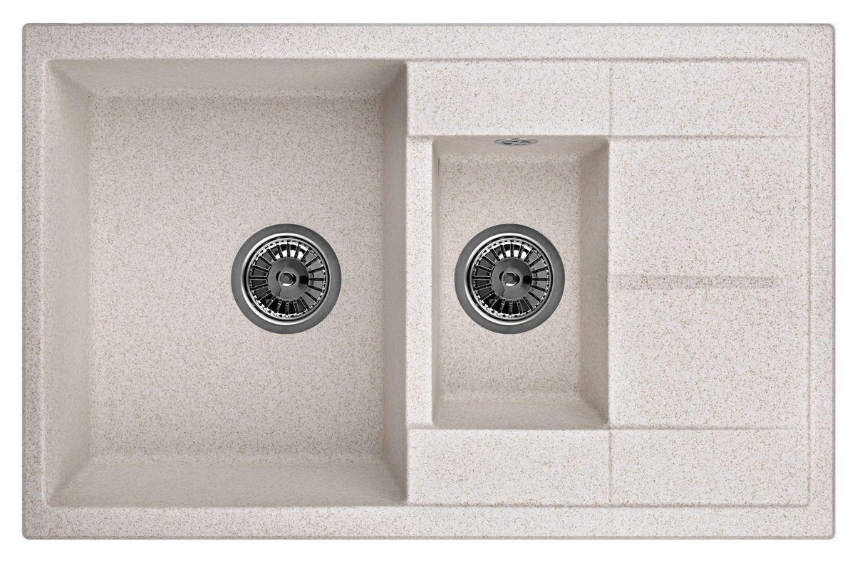Мойка Weissgauff Quadro 775K Eco Granit, цвет: светло-бежевый, 78,0 х 18,5 х 50,0 см267317Гранитные мойки Weissgauff Eco Granit – классическая коллекция моек, изготовленных из специально подобранных композитных материалов , содержащих оптимальное сочетание 80% каменной массы высокого качества и 20% связующих материалов. Оригинальный и функциональный дизайн - технология изготовления позволяет создавать любые цвета и формы, оптимальные для современных кухонь. Мойки Weissgauff легко подобрать к интерьеру любой кухни, для разных цветов и форм столешниц Влагостойкость - отталкивание влаги – одна из примечательных особенностей моек из искусственного камня за счет связующих композитных материалов, которые продлевают их срок службы и способствуют сохранению первоначального вида Термостойкость - подвергая мойки воздействию высоких температур, например, различными горячими жидкостями, будьте уверенны, что мойки Weissgauff – эталон стойкости и качества, так как они устойчивы к перепаду температур. Специальный состав моек Weisgauff избавляет от проблемы...