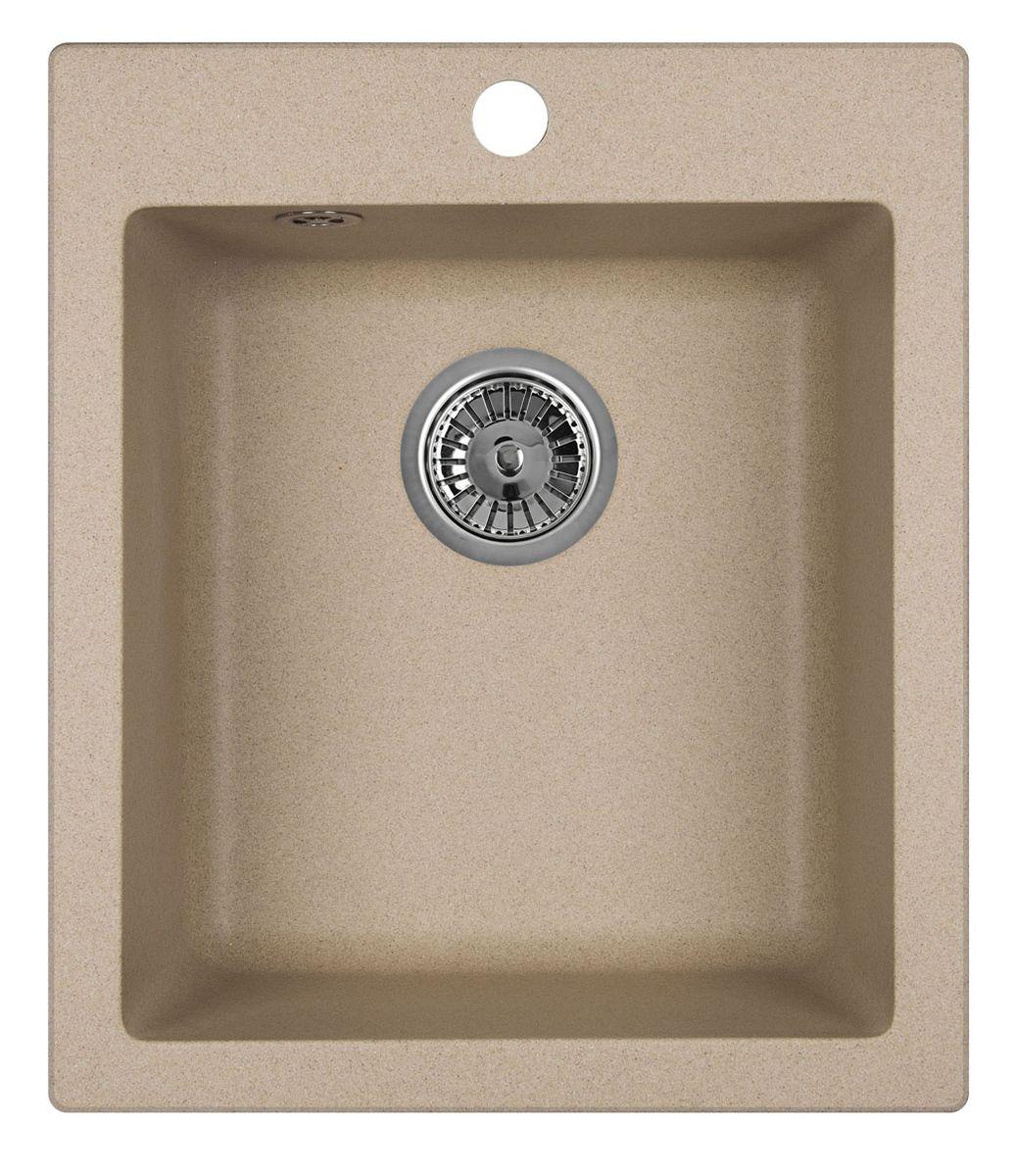 Мойка Weissgauff Quadro 420 Eco Granit, цвет: бежевый, 78,0 х 20,5 х 50,0 см306170Гранитные мойки Weissgauff Eco Granit – классическая коллекция моек, изготовленных из специально подобранных композитных материалов , содержащих оптимальное сочетание 80% каменной массы высокого качества и 20% связующих материалов. Оригинальный и функциональный дизайн - технология изготовления позволяет создавать любые цвета и формы, оптимальные для современных кухонь. Мойки Weissgauff легко подобрать к интерьеру любой кухни, для разных цветов и форм столешниц Влагостойкость - отталкивание влаги – одна из примечательных особенностей моек из искусственного камня за счет связующих композитных материалов, которые продлевают их срок службы и способствуют сохранению первоначального вида Термостойкость - подвергая мойки воздействию высоких температур, например, различными горячими жидкостями, будьте уверенны, что мойки Weissgauff – эталон стойкости и качества, так как они устойчивы к перепаду температур. Специальный состав моек Weisgauff избавляет от проблемы...