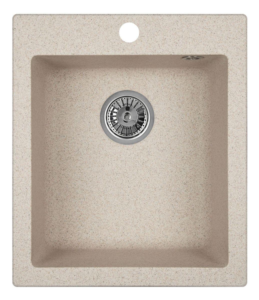 """Мойка Weissgauff """"Quadro 420 Eco Granit"""", цвет: песочный, 41,5 х 19,5 х 49,0 см 306173"""