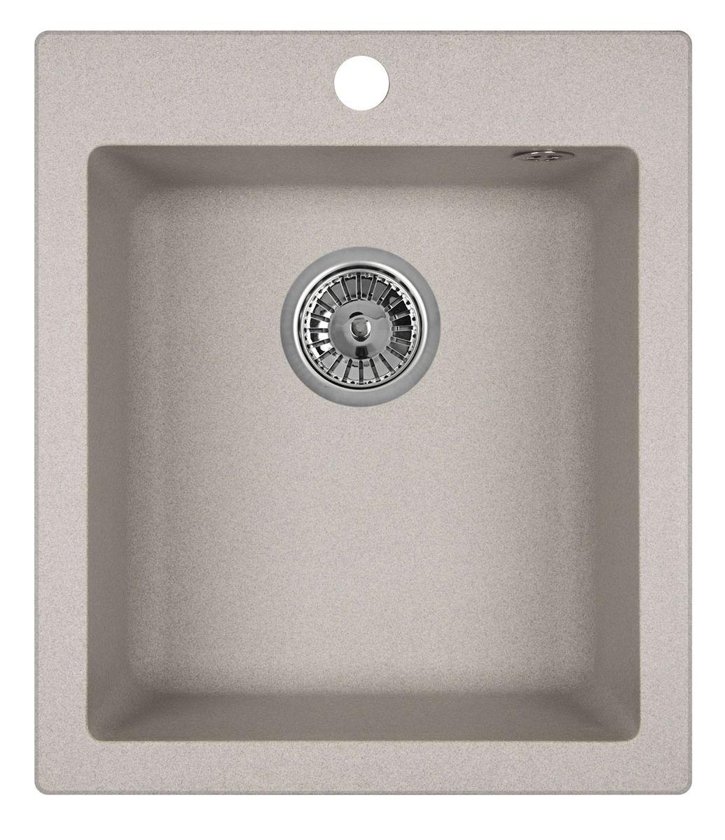 "Мойка Weissgauff ""Quadro 420 Eco Granit"", цвет: серый, 41,5 х 19,5 х 49,0 см 306175"