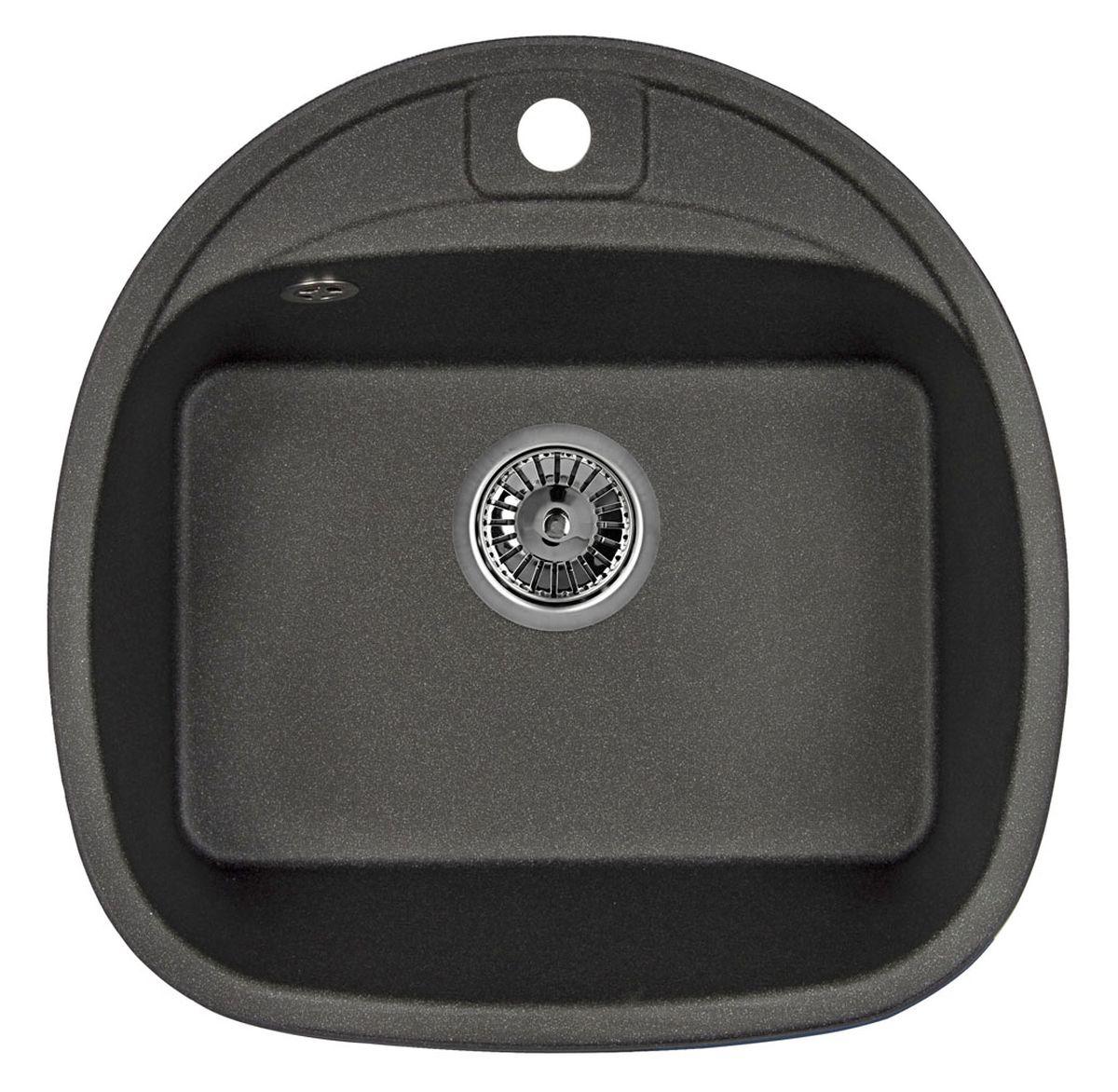 """Мойка Weissgauff """"Softline 500 Eco Granit"""", цвет: черный, 50,0 х 20,5 х 50,0 см 306215"""
