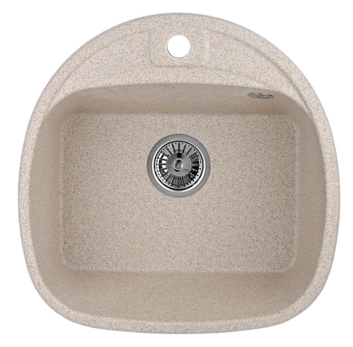 Мойка Weissgauff Softline 500 Eco Granit, цвет: песочный, 50,0 х 20,5 х 50,0 см306211Гранитные мойки Weissgauff Eco Granit – классическая коллекция моек, изготовленных из специально подобранных композитных материалов , содержащих оптимальное сочетание 80% каменной массы высокого качества и 20% связующих материалов. Оригинальный и функциональный дизайн - технология изготовления позволяет создавать любые цвета и формы, оптимальные для современных кухонь. Мойки Weissgauff легко подобрать к интерьеру любой кухни, для разных цветов и форм столешниц Влагостойкость - отталкивание влаги – одна из примечательных особенностей моек из искусственного камня за счет связующих композитных материалов, которые продлевают их срок службы и способствуют сохранению первоначального вида Термостойкость - подвергая мойки воздействию высоких температур, например, различными горячими жидкостями, будьте уверенны, что мойки Weissgauff – эталон стойкости и качества, так как они устойчивы к перепаду температур. Специальный состав моек Weisgauff избавляет от проблемы...