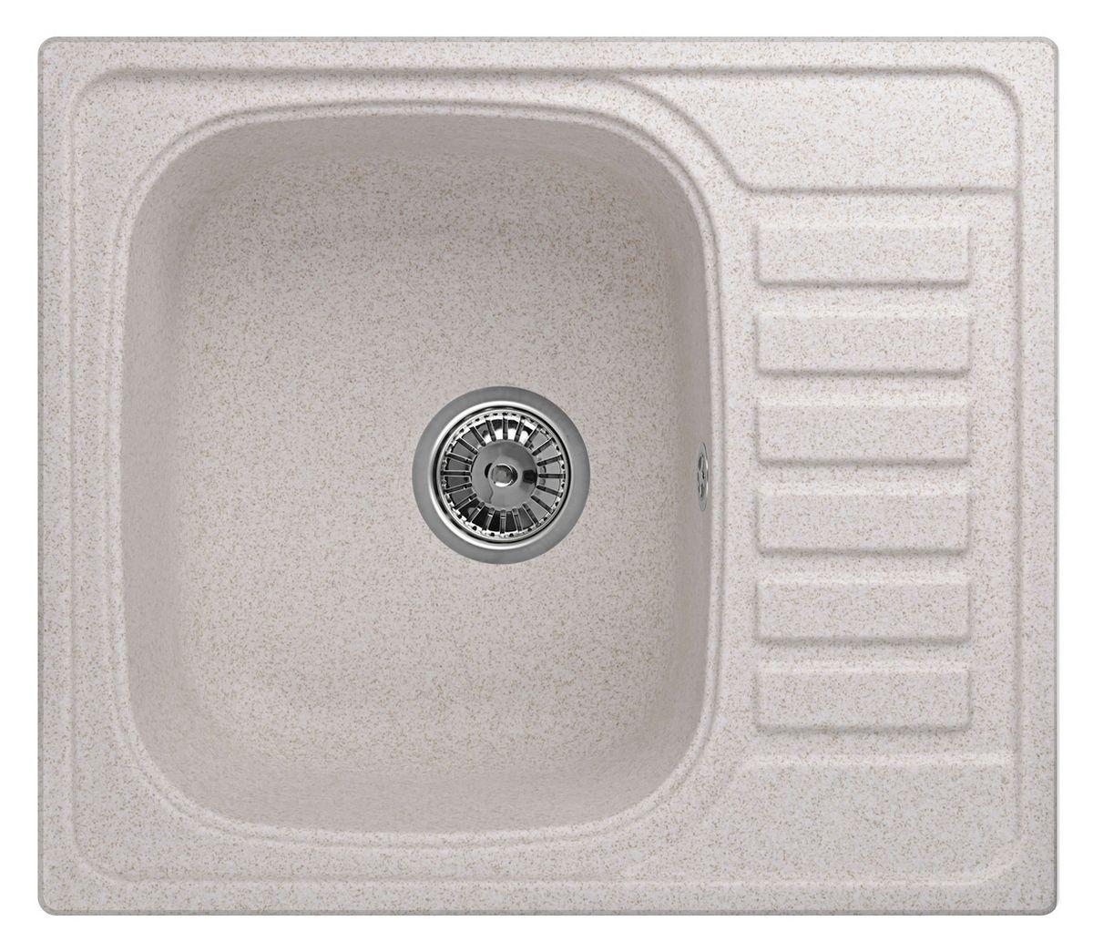 Мойка Weissgauff Quadro 575 Eco Granit, цвет: светло-бежевый, 57,5 х 20,0 х 49,5 см306178Гранитные мойки Weissgauff Eco Granit – классическая коллекция моек, изготовленных из специально подобранных композитных материалов , содержащих оптимальное сочетание 80% каменной массы высокого качества и 20% связующих материалов. Оригинальный и функциональный дизайн - технология изготовления позволяет создавать любые цвета и формы, оптимальные для современных кухонь. Мойки Weissgauff легко подобрать к интерьеру любой кухни, для разных цветов и форм столешниц Влагостойкость - отталкивание влаги – одна из примечательных особенностей моек из искусственного камня за счет связующих композитных материалов, которые продлевают их срок службы и способствуют сохранению первоначального вида Термостойкость - подвергая мойки воздействию высоких температур, например, различными горячими жидкостями, будьте уверенны, что мойки Weissgauff – эталон стойкости и качества, так как они устойчивы к перепаду температур. Специальный состав моек Weisgauff избавляет от проблемы...