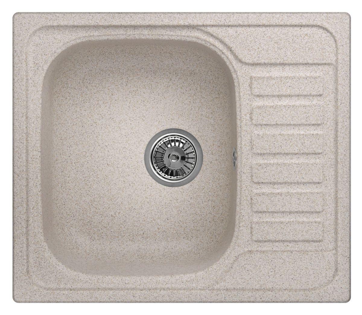 Мойка Weissgauff Quadro 575 Eco Granit, цвет: песочный, 57,5 х 20,0 х 49,5 см306183Гранитные мойки Weissgauff Eco Granit – классическая коллекция моек, изготовленных из специально подобранных композитных материалов , содержащих оптимальное сочетание 80% каменной массы высокого качества и 20% связующих материалов. Оригинальный и функциональный дизайн - технология изготовления позволяет создавать любые цвета и формы, оптимальные для современных кухонь. Мойки Weissgauff легко подобрать к интерьеру любой кухни, для разных цветов и форм столешниц Влагостойкость - отталкивание влаги – одна из примечательных особенностей моек из искусственного камня за счет связующих композитных материалов, которые продлевают их срок службы и способствуют сохранению первоначального вида Термостойкость - подвергая мойки воздействию высоких температур, например, различными горячими жидкостями, будьте уверенны, что мойки Weissgauff – эталон стойкости и качества, так как они устойчивы к перепаду температур. Специальный состав моек Weisgauff избавляет от проблемы...