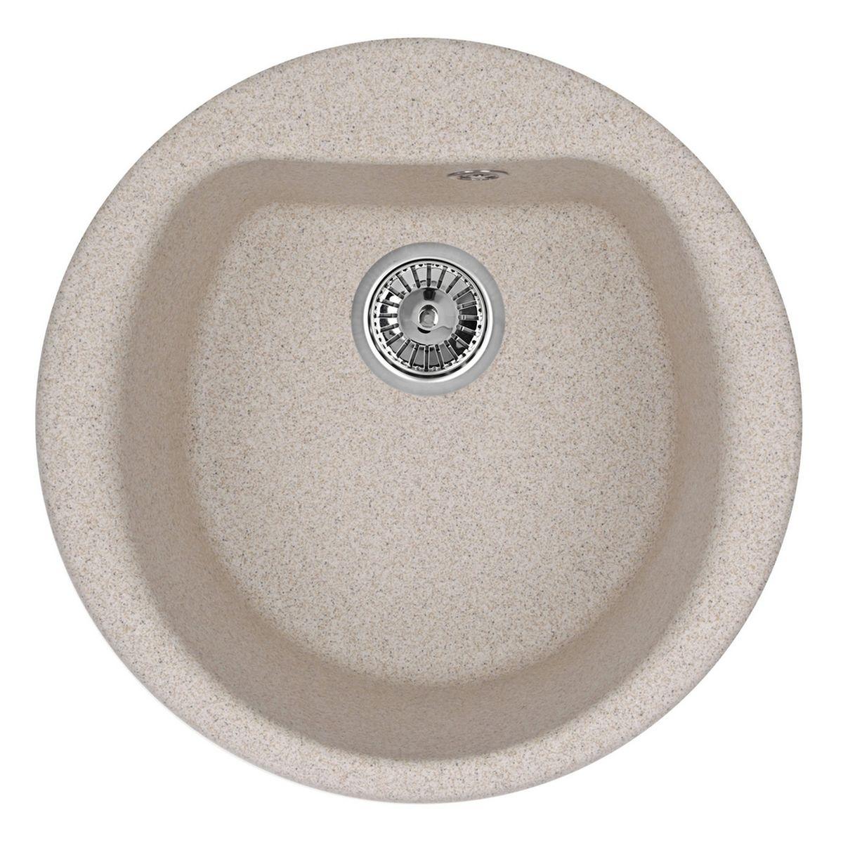 Мойка Weissgauff Rondo 500 Eco Granit, цвет: песочный, 50,0 х 20,5 х 50,0 см306315Гранитные мойки Weissgauff Eco Granit – классическая коллекция моек, изготовленных из специально подобранных композитных материалов , содержащих оптимальное сочетание 80% каменной массы высокого качества и 20% связующих материалов. Оригинальный и функциональный дизайн - технология изготовления позволяет создавать любые цвета и формы, оптимальные для современных кухонь. Мойки Weissgauff легко подобрать к интерьеру любой кухни, для разных цветов и форм столешниц Влагостойкость - отталкивание влаги – одна из примечательных особенностей моек из искусственного камня за счет связующих композитных материалов, которые продлевают их срок службы и способствуют сохранению первоначального вида Термостойкость - подвергая мойки воздействию высоких температур, например, различными горячими жидкостями, будьте уверенны, что мойки Weissgauff – эталон стойкости и качества, так как они устойчивы к перепаду температур. Специальный состав моек Weisgauff избавляет от проблемы...