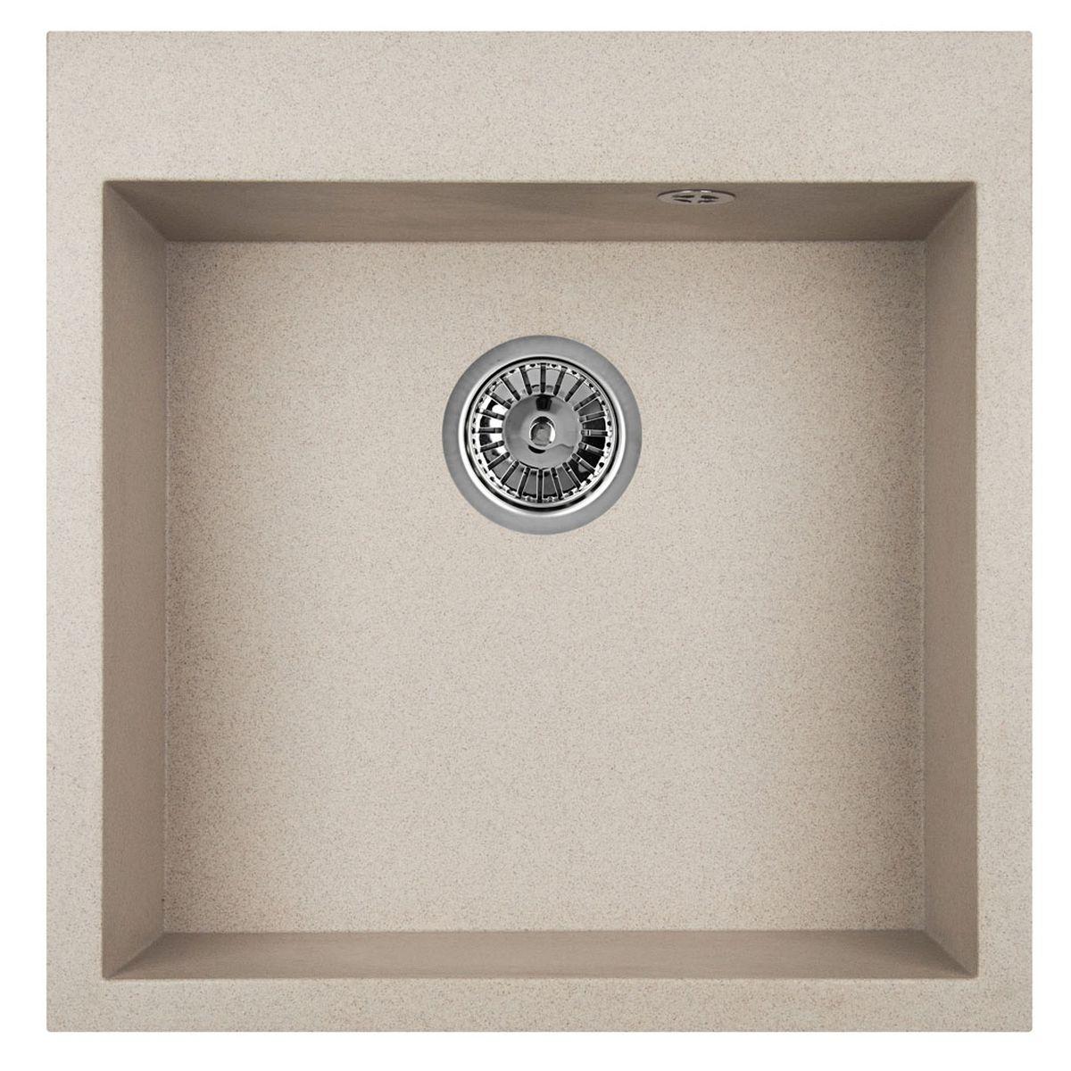 Мойка Weissgauff Quadro 505 Eco Granit, цвет: серый беж, 50,5 х 19,0 х 51,0 см290468Гранитные мойки Weissgauff Eco Granit – классическая коллекция моек, изготовленных из специально подобранных композитных материалов , содержащих оптимальное сочетание 80% каменной массы высокого качества и 20% связующих материалов. Оригинальный и функциональный дизайн - технология изготовления позволяет создавать любые цвета и формы, оптимальные для современных кухонь. Мойки Weissgauff легко подобрать к интерьеру любой кухни, для разных цветов и форм столешниц Влагостойкость - отталкивание влаги – одна из примечательных особенностей моек из искусственного камня за счет связующих композитных материалов, которые продлевают их срок службы и способствуют сохранению первоначального вида Термостойкость - подвергая мойки воздействию высоких температур, например, различными горячими жидкостями, будьте уверенны, что мойки Weissgauff – эталон стойкости и качества, так как они устойчивы к перепаду температур. Специальный состав моек Weisgauff избавляет от проблемы...