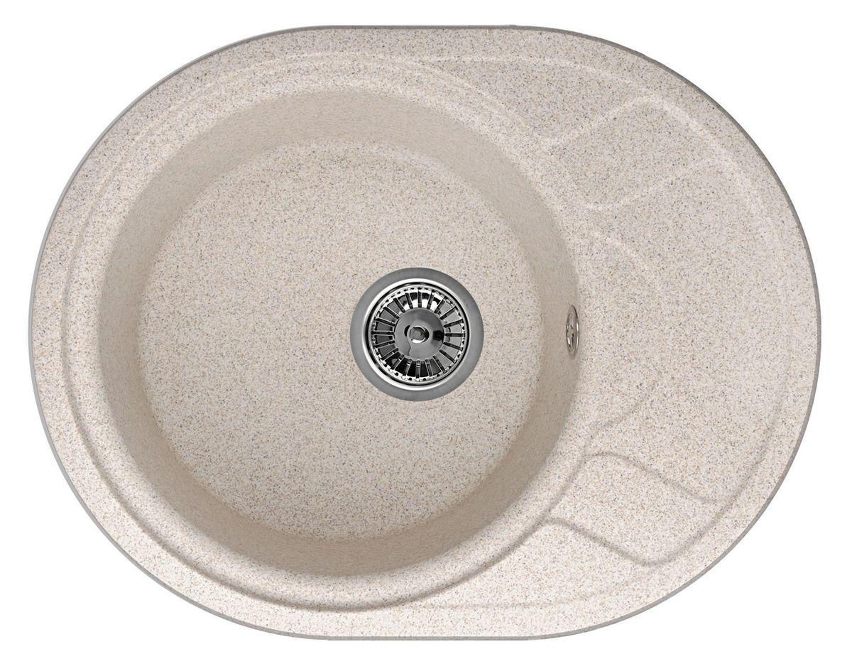 """Мойка Weissgauff """"Ascot 575 Eco Granit"""", цвет: песочный, 57,5 х 44,5 х 19,0 см"""