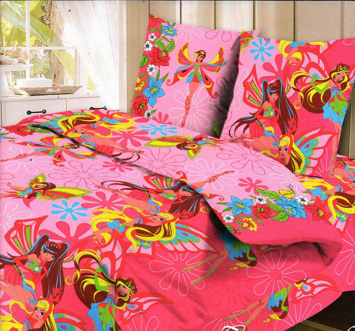 Letto Комплект детского постельного белья Фея цвет розовыйfairy_rose-50Комплект детского постельного белья Letto Фея, состоящий из наволочки, простыни и пододеяльника, выполнен из натурального 100% хлопка. Комплект оформлен изображениями волшебных фей и яркими цветами. Хлопок - это натуральный материал, который не раздражает даже самую нежную и чувствительную кожу малыша, не вызывает аллергии и хорошо вентилируется. Такой комплект идеально подойдет для кроватки вашей малышки. На нем ребенок будет спать здоровым и крепким сном.