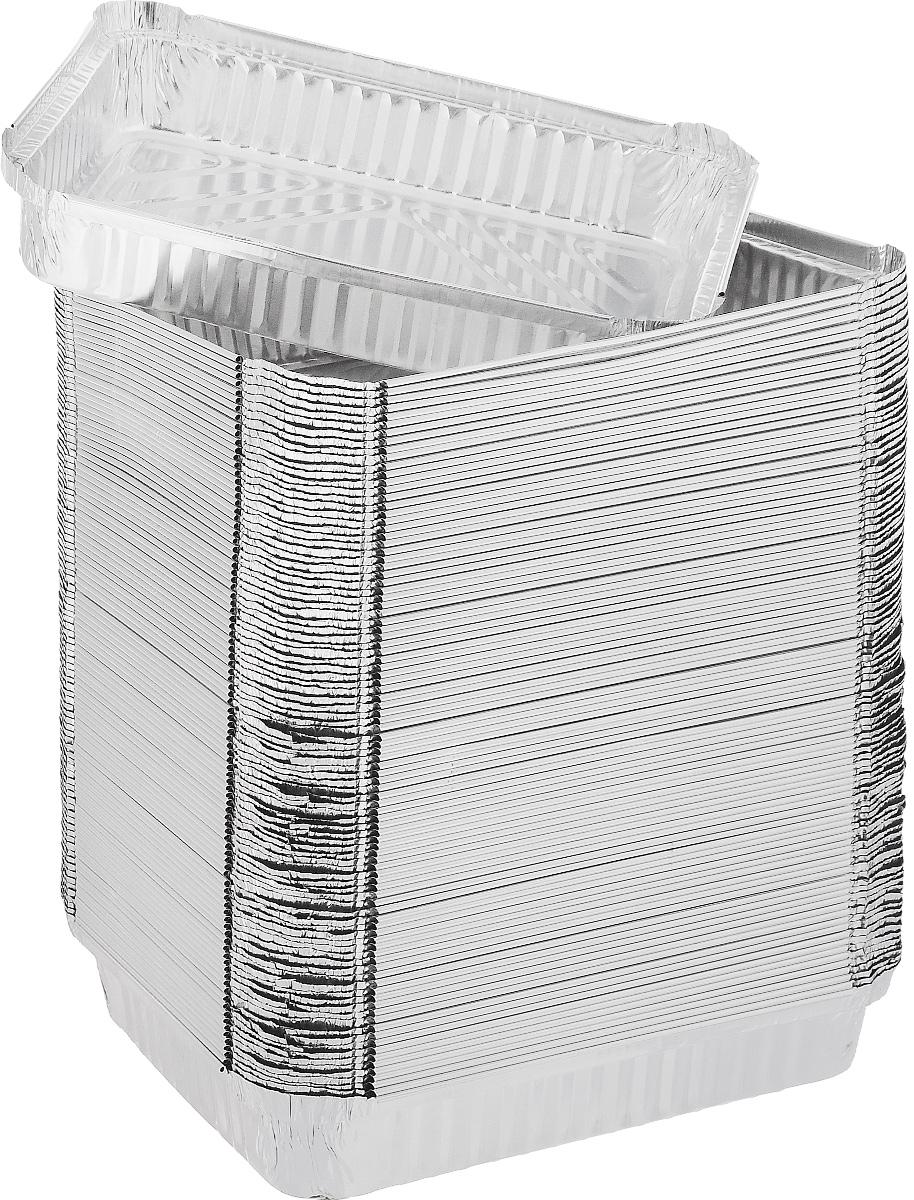 Набор форм для запекания Формация, 19,2 х 14 х 3,5 см, 100 шт. R8LФЛГ01947Набор форм Формация, выполненный из алюминиевой фольги, идеально подходит для кексов и пирогов. Изделия обладают всеми свойствами обычной фольги для запекания: гигиеничные, легкие, прочные, теплопроводные. Также формы можно использовать для запекания, для хранения и заморозки продуктов.