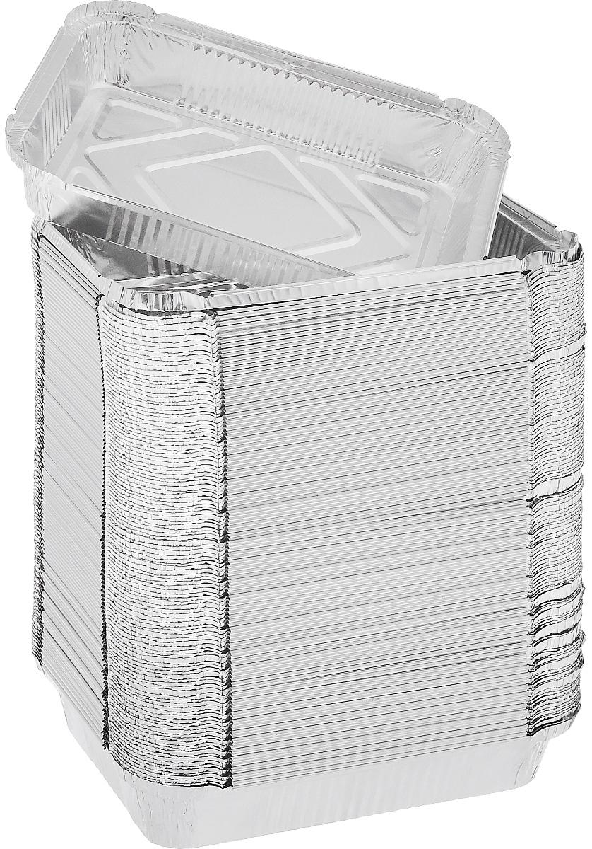 Набор форм для запекания Формация, 22,5 х 17,5 х 3,5 см, 100 шт. R29LФЛГ12967Набор форм Формация, выполненный из алюминиевой фольги, идеально подходит для кексов и пирогов. Изделия обладают всеми свойствами обычной фольги для запекания: гигиеничные, легкие, прочные, теплопроводные. Также формы можно использовать для запекания, для хранения и заморозки продуктов.