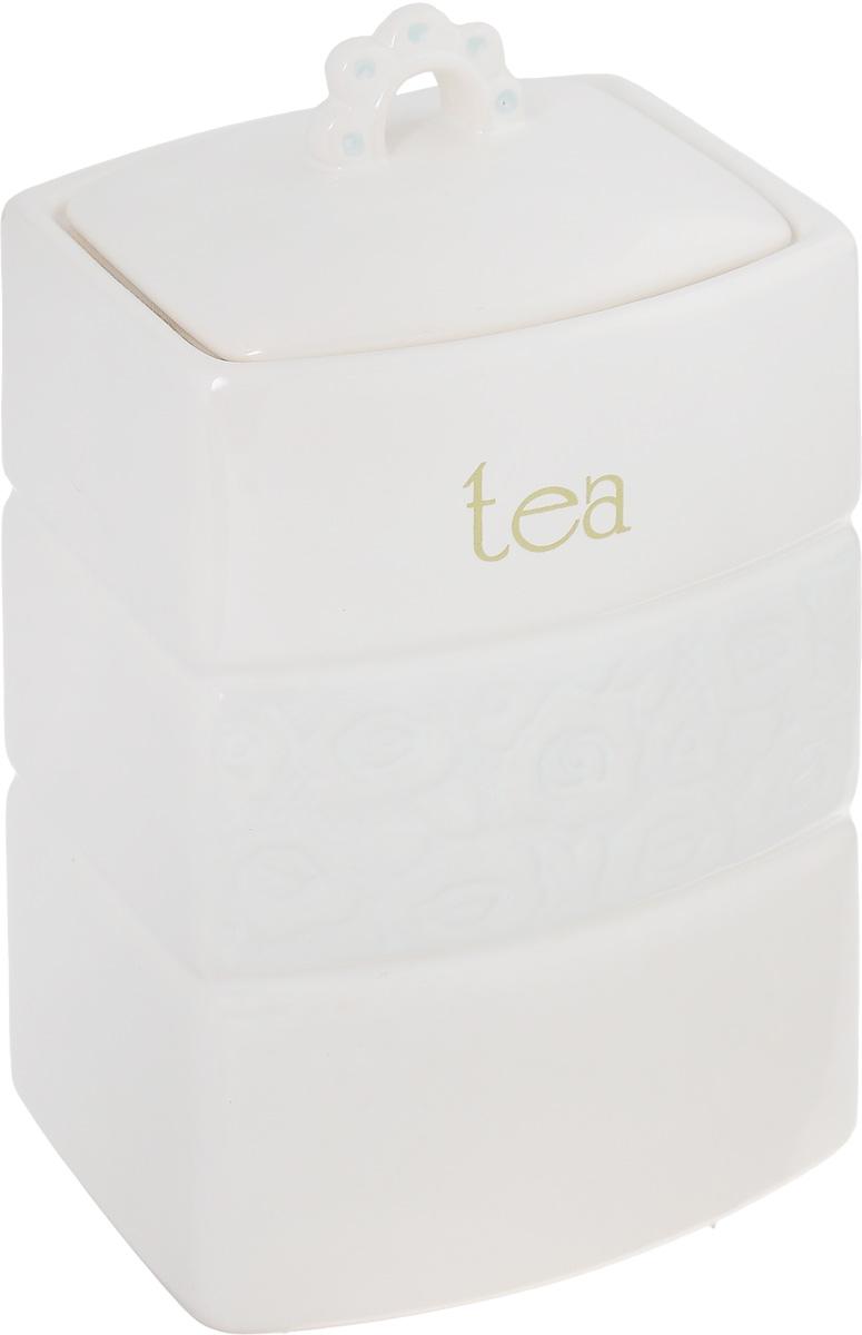 Емкость для хранения чая Premier Housewares Georgia, 11 х 10,5 х 19,5 см0721858Вместительная банка Premier Housewares Georgia, выполненная из керамики и оформленная оригинальным выпуклым рисунком и надписью Tea, станет незаменимым помощником на кухне. В ней будет удобно хранить чай. Емкость легко закрывается крышкой, которая снабжена резиновым кольцом-уплотнителем для лучшей фиксации. Оригинальный дизайн позволит сделать такую емкость отличным подарком на любой праздник. Размер банки с учетом крышки: 11 х 10,5 х 19,5 см.