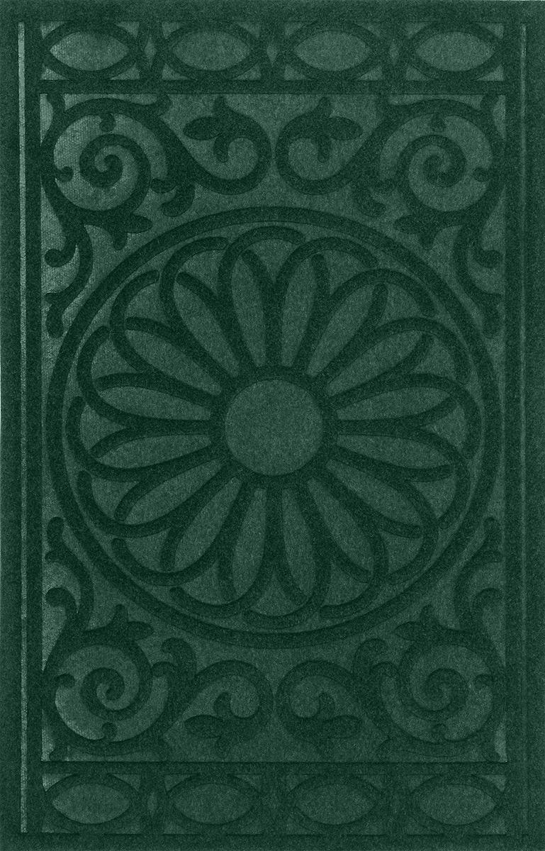 """Коврик придверный SunStep """"Византийский"""", влаговпитывающий, цвет: зеленый, черный, 80 х 50 см"""